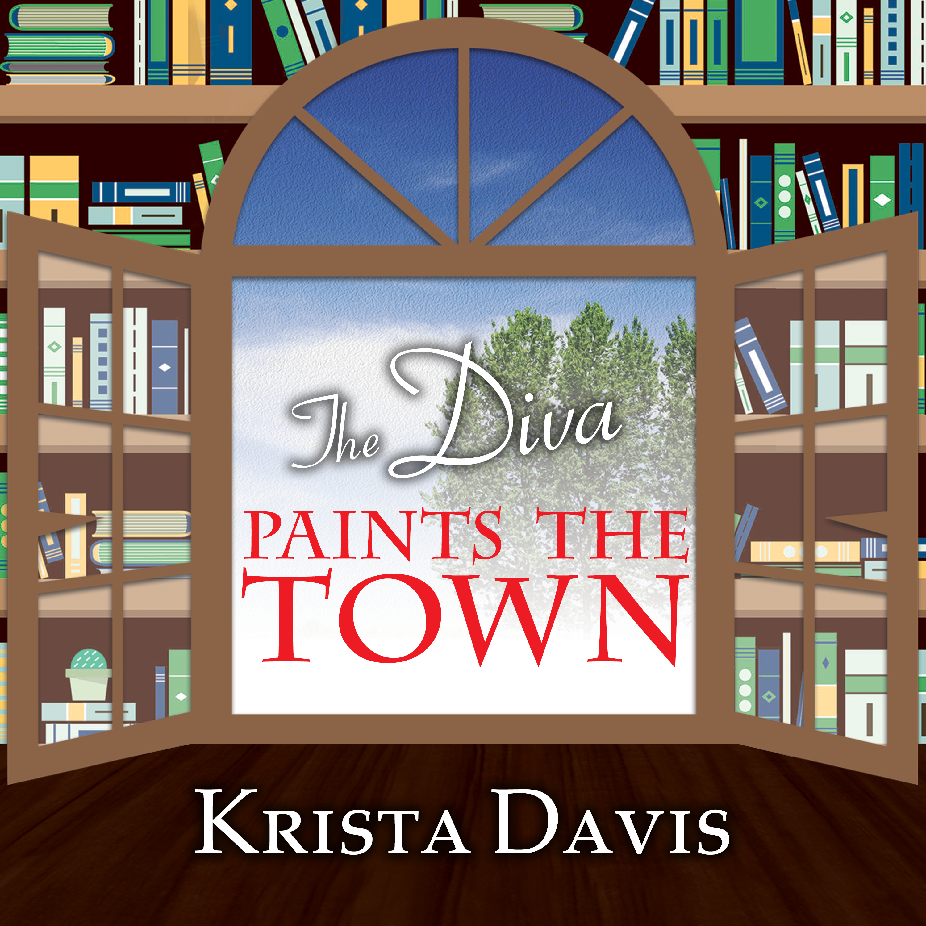 Printable The Diva Paints the Town Audiobook Cover Art