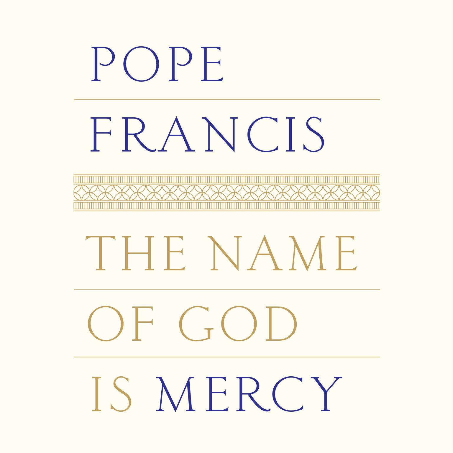 Printable The Name of God Is Mercy Audiobook Cover Art