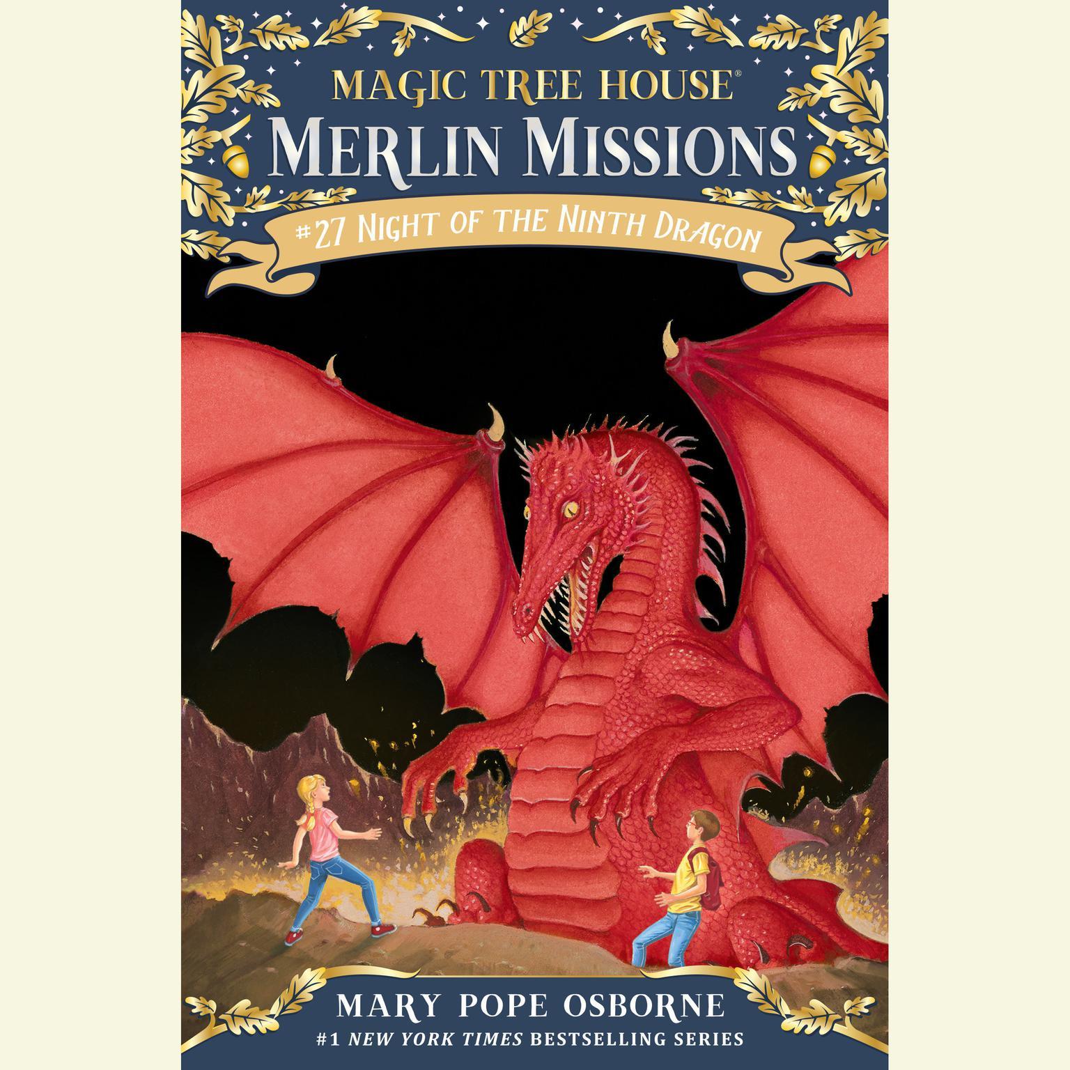 Printable Night of the Ninth Dragon Audiobook Cover Art