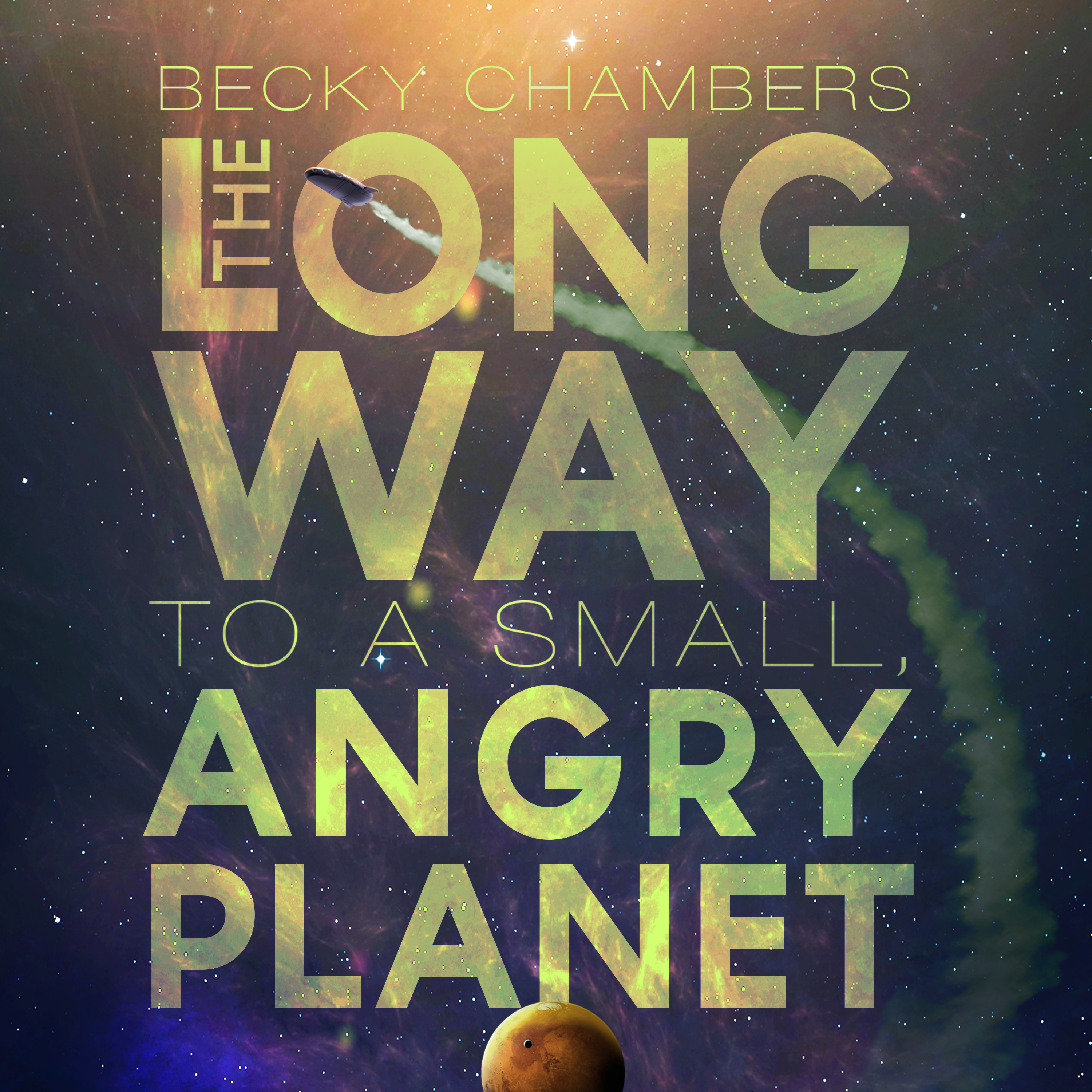 Printable The Long Way to a Small, Angry Planet Audiobook Cover Art