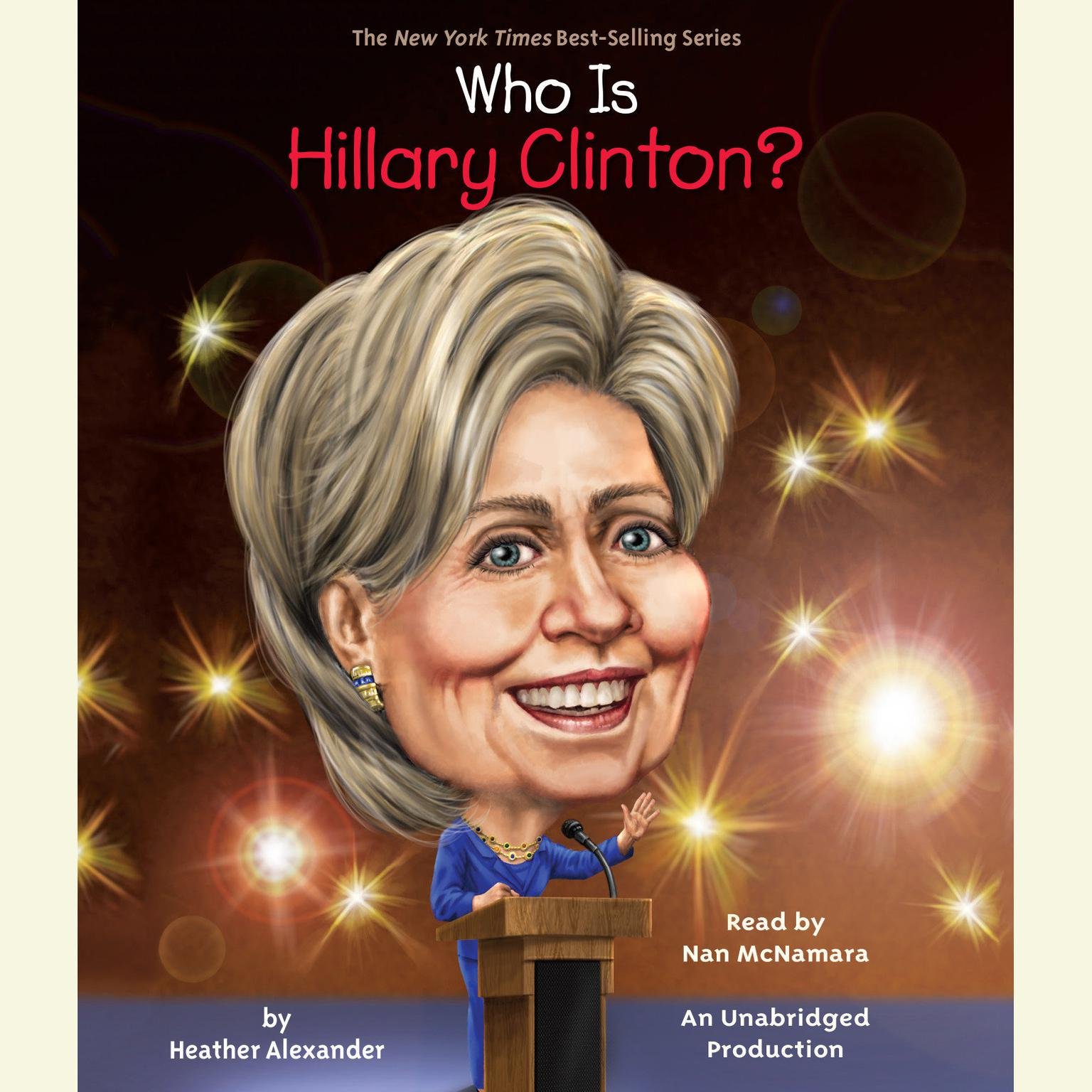 Printable Who Is Hillary Clinton? Audiobook Cover Art