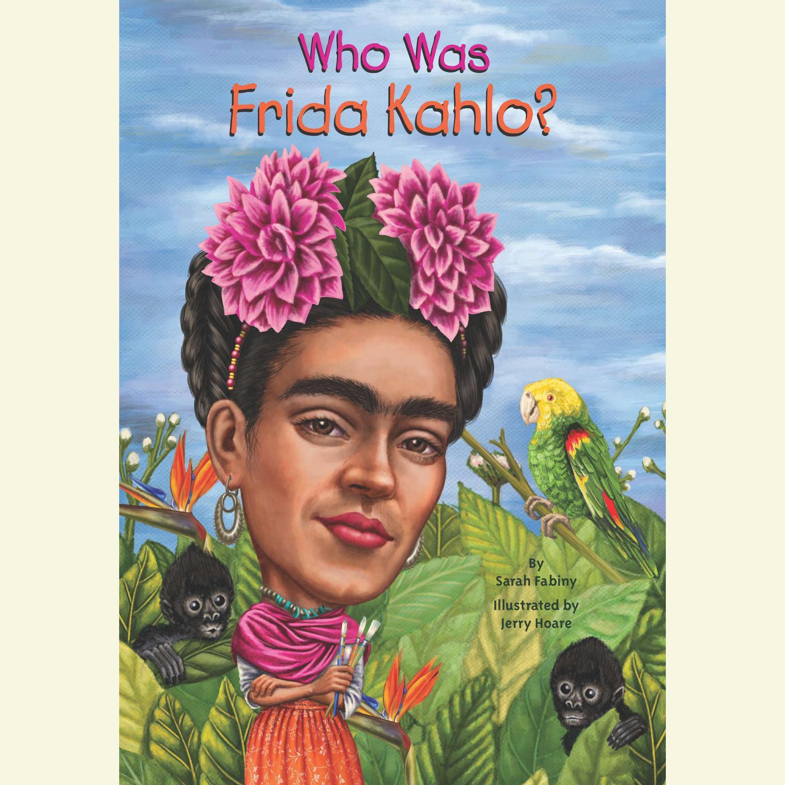 Printable Who Was Frida Kahlo? Audiobook Cover Art