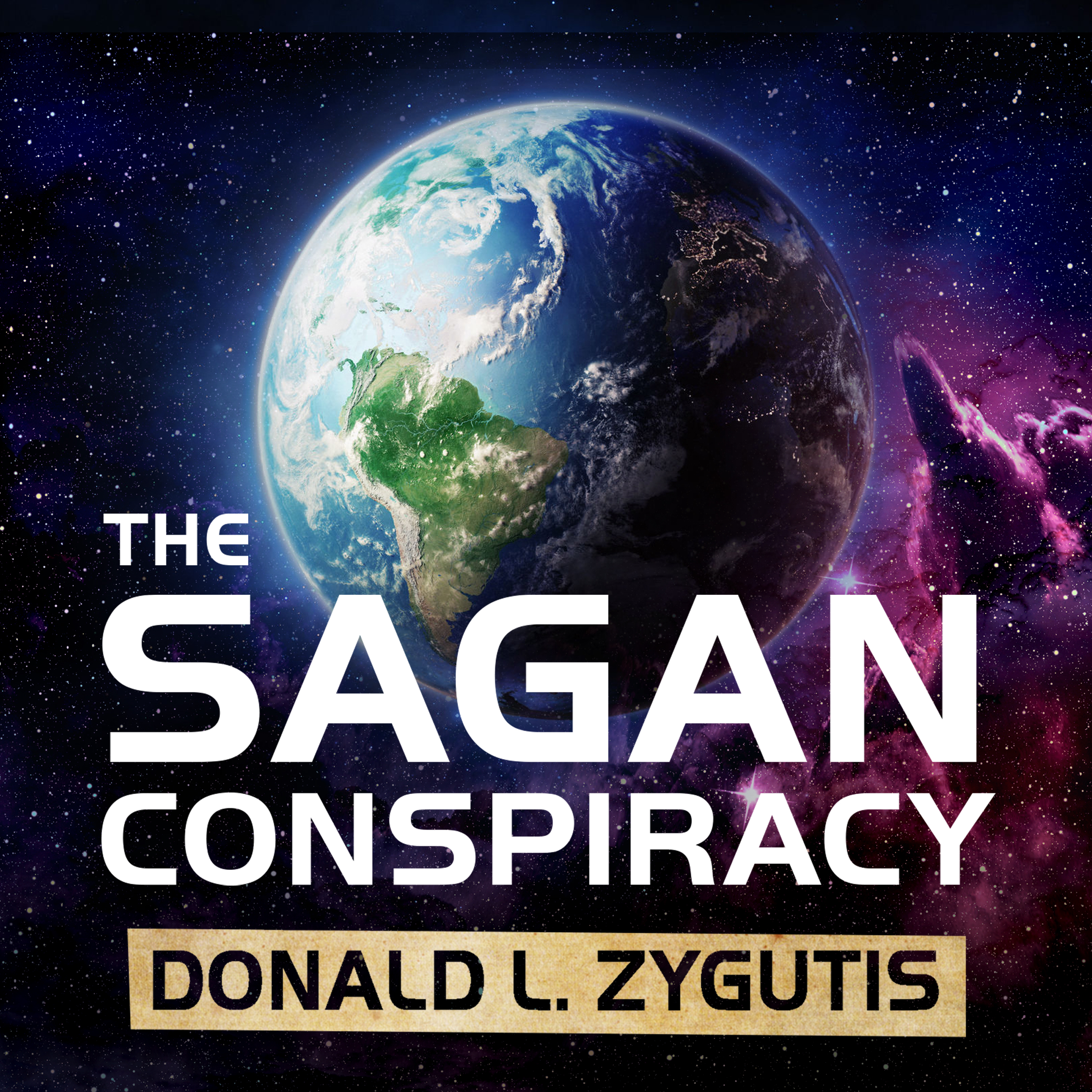 Printable The Sagan Conspiracy: NASA's Untold Plot to Suppress The People's Scientist's Theory of Ancient Aliens Audiobook Cover Art