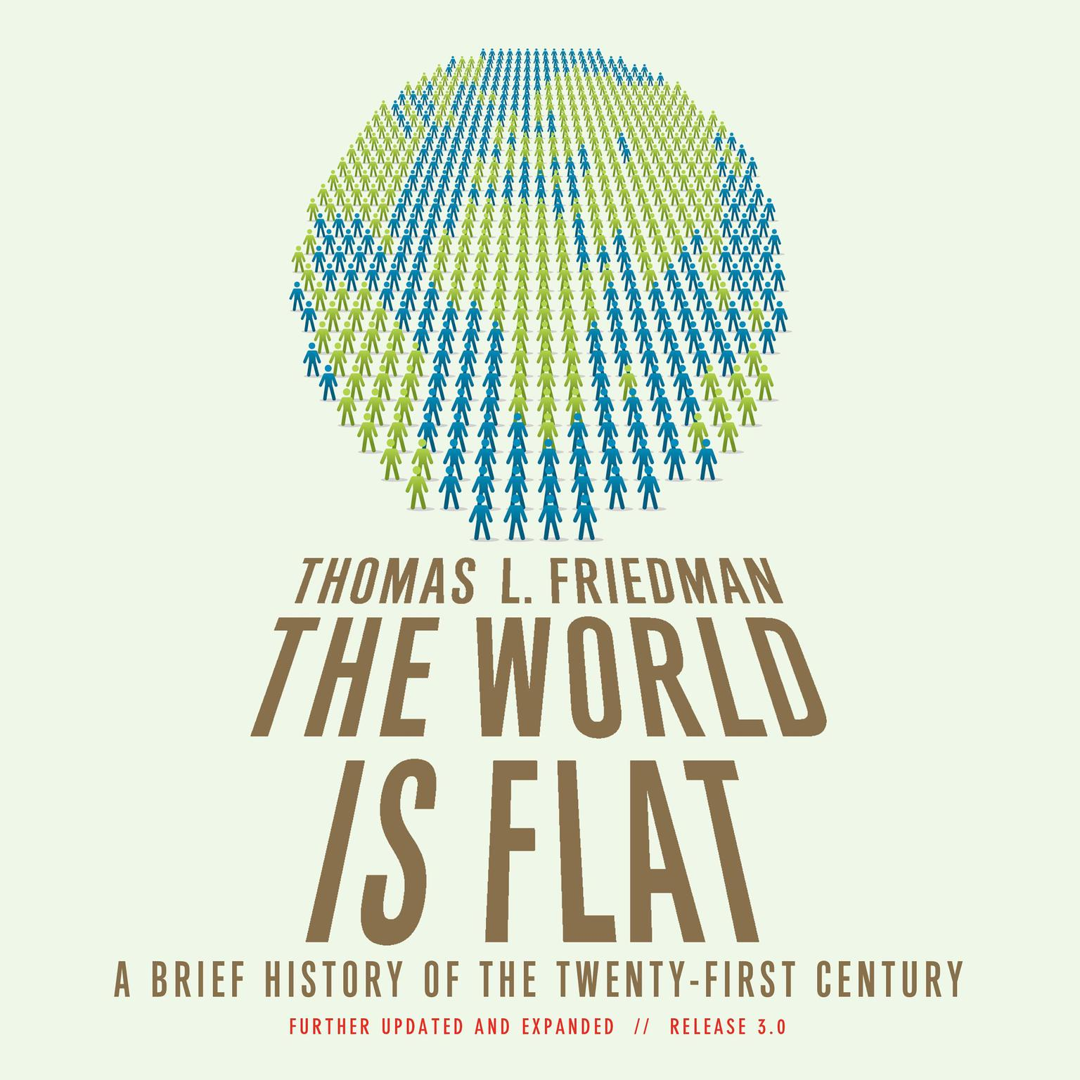 Printable The World Is Flat: A Brief History of the Twenty-first Century Audiobook Cover Art
