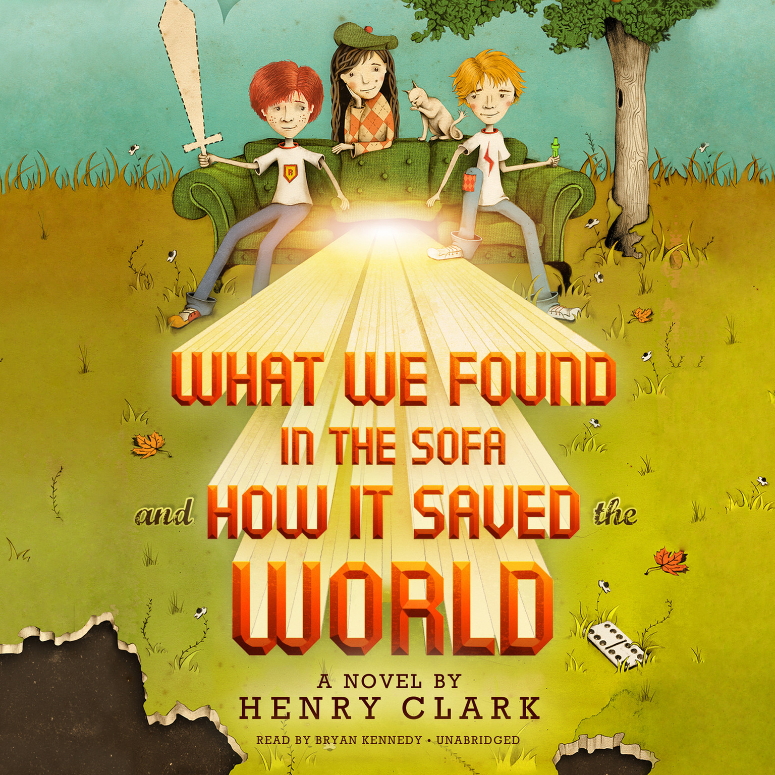 Printable What We Found in the Sofa and How It Saved the World Audiobook Cover Art