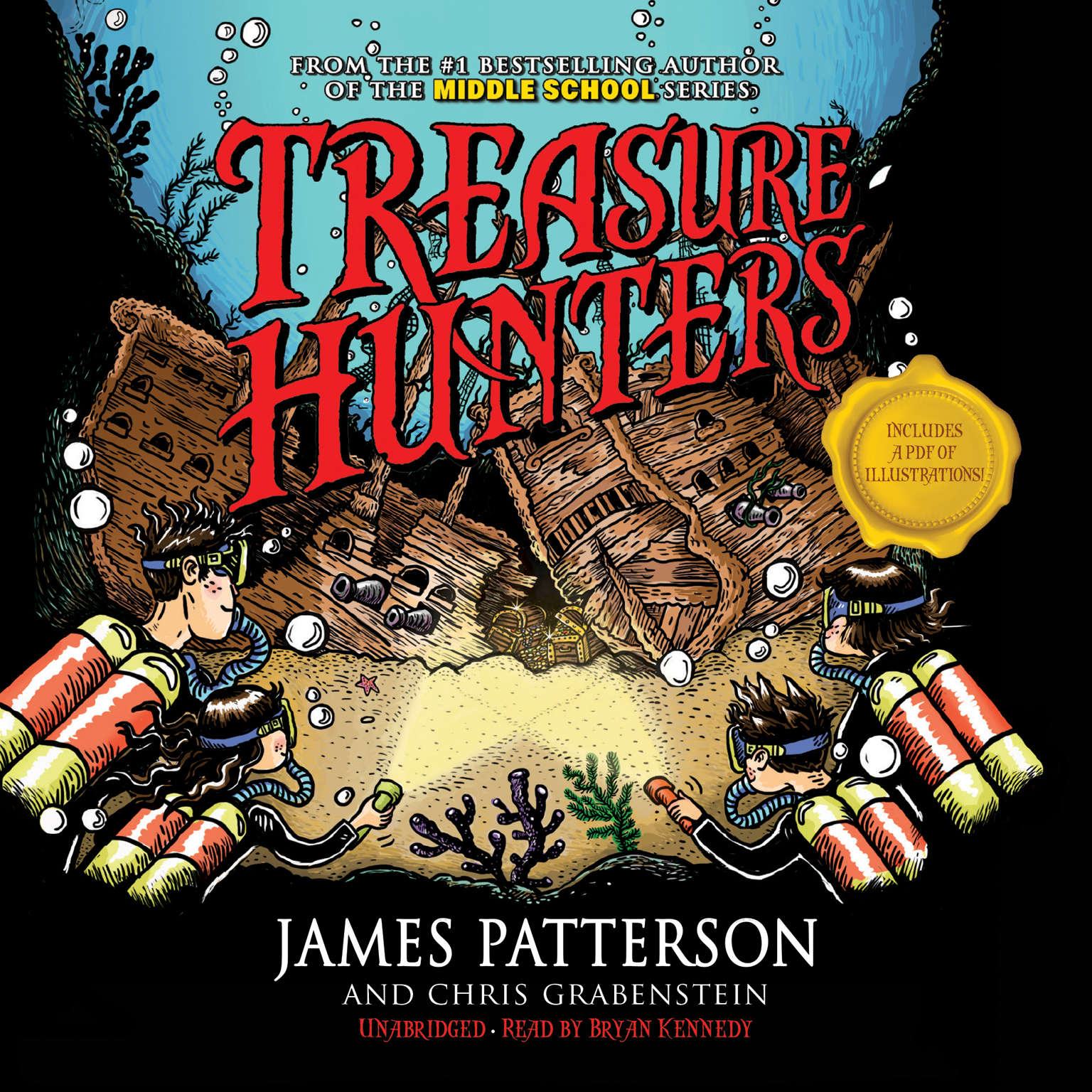 Printable Treasure Hunters Audiobook Cover Art