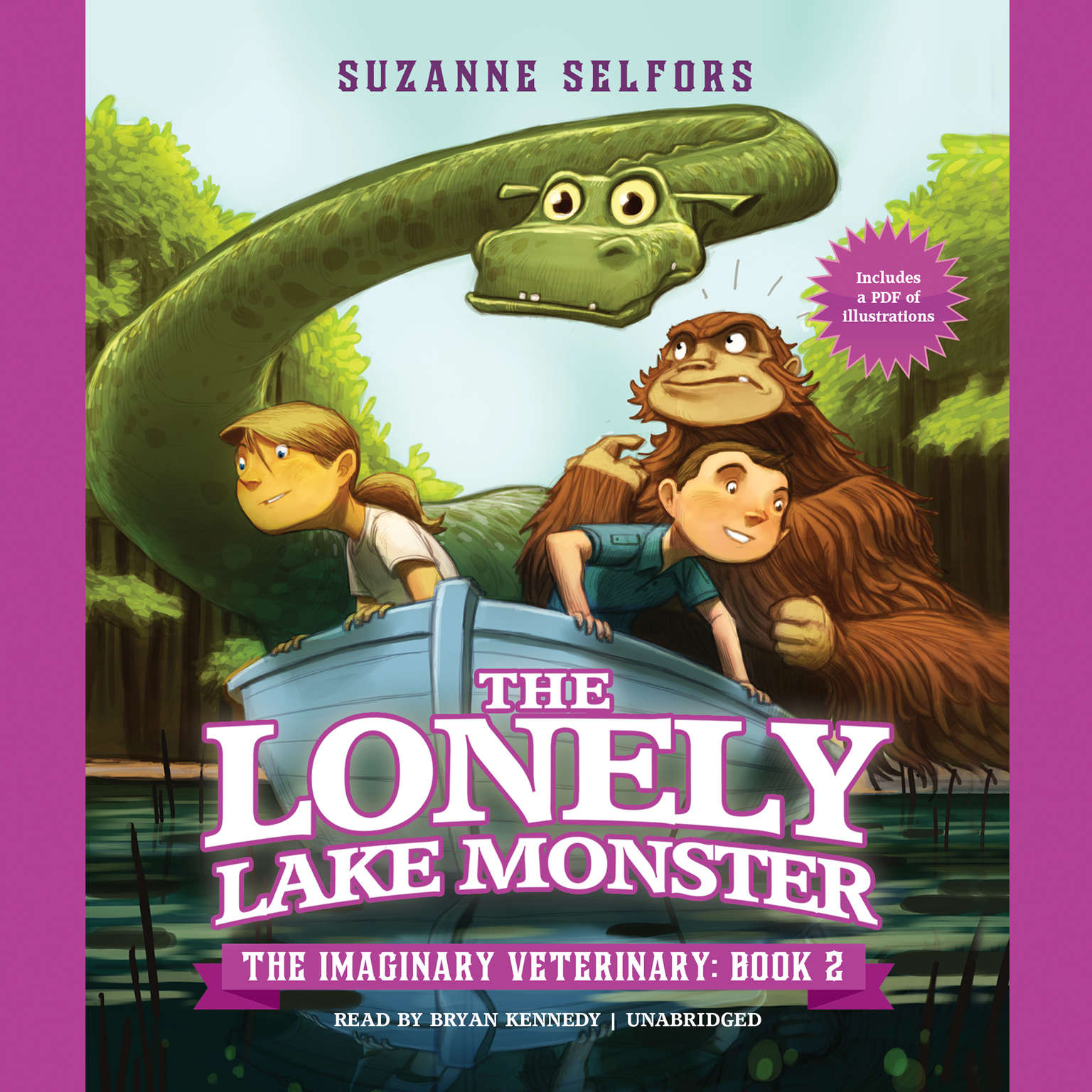 Printable The Lonely Lake Monster Audiobook Cover Art