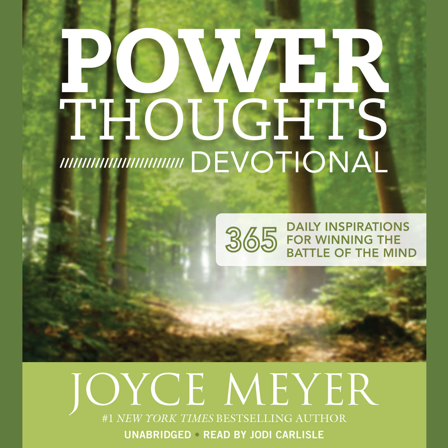 Printable Power Thoughts Devotional: 365 Daily Inspirations for Winning the Battle of the Mind Audiobook Cover Art