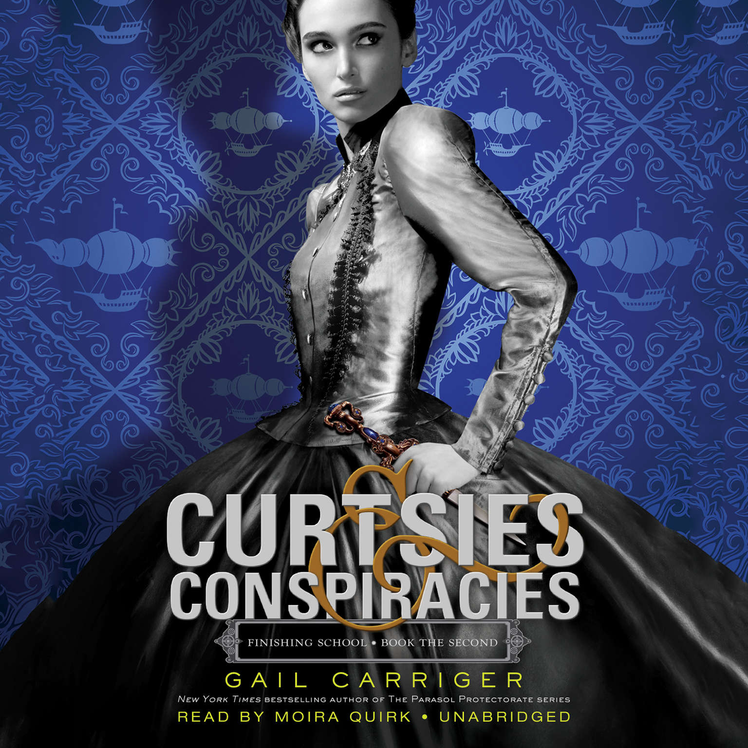 Printable Curtsies & Conspiracies Audiobook Cover Art