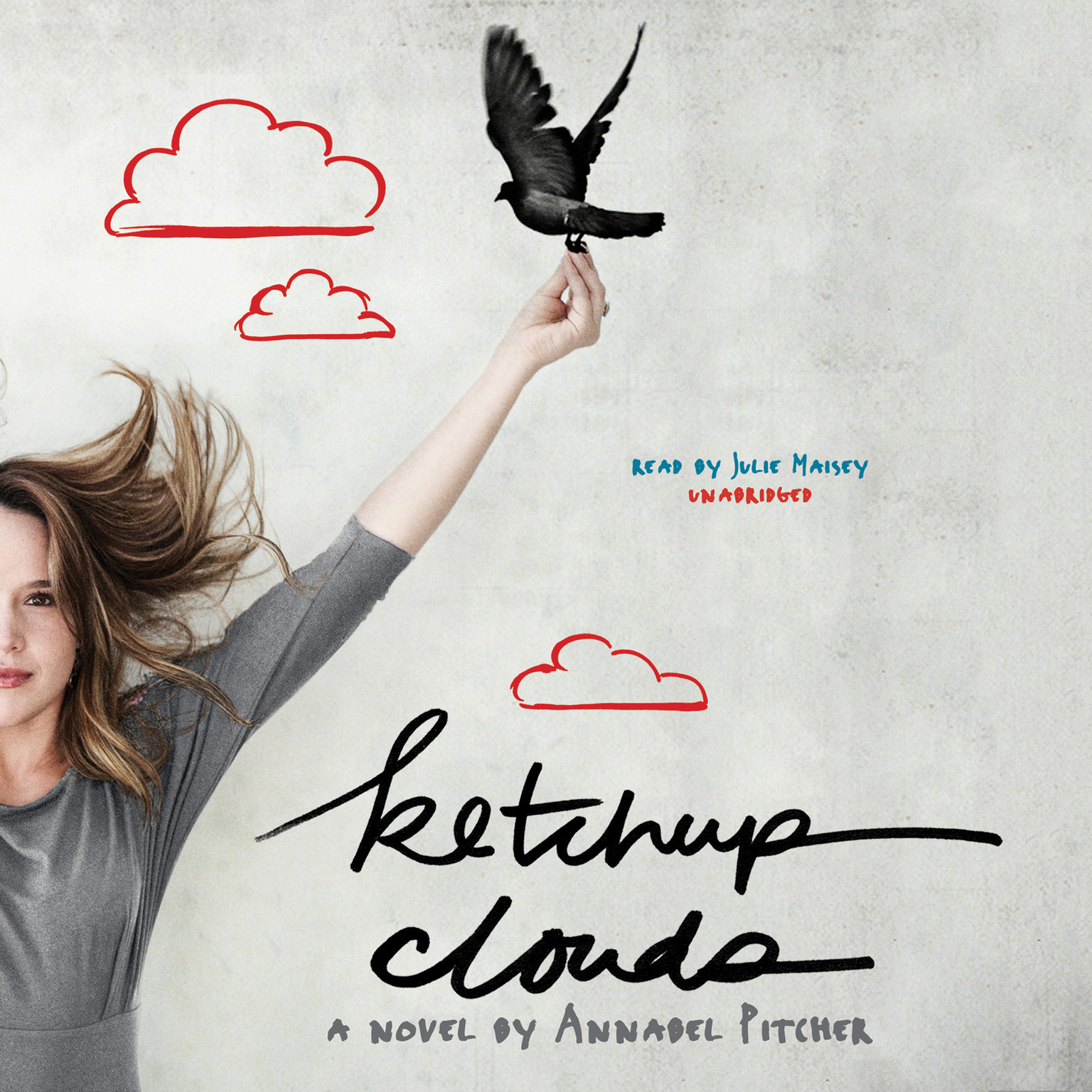 Printable Ketchup Clouds: A Novel Audiobook Cover Art