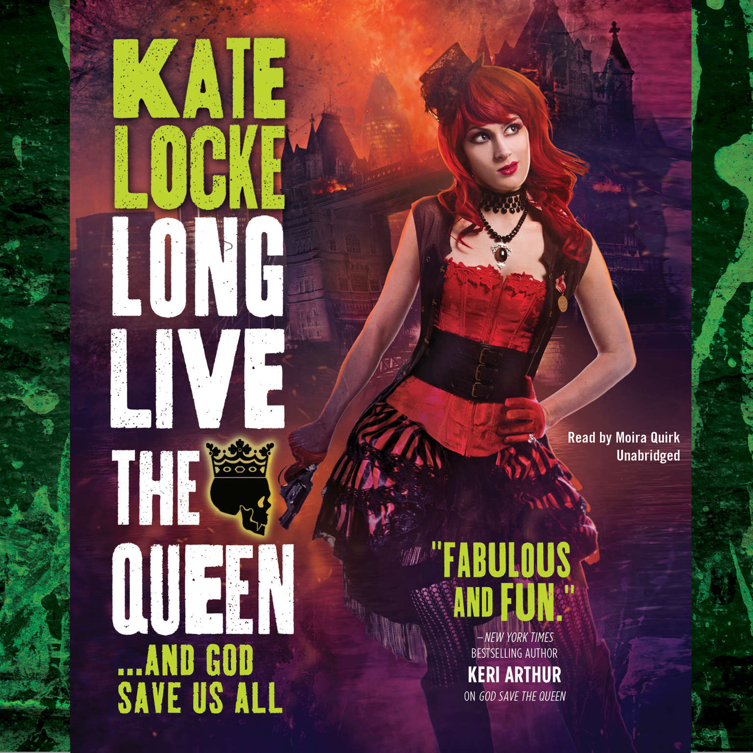 Printable Long Live the Queen Audiobook Cover Art