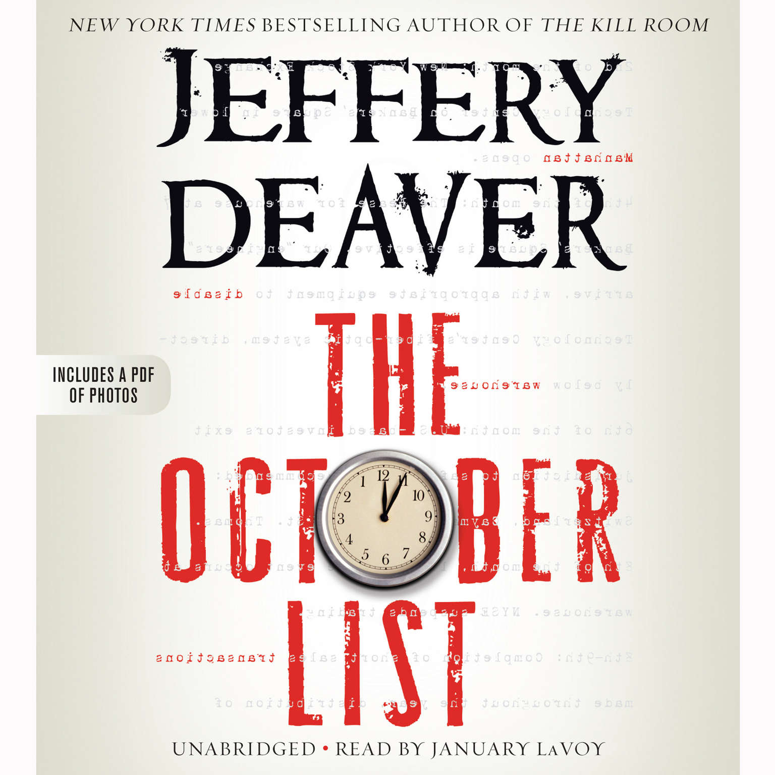 Printable The October List Audiobook Cover Art