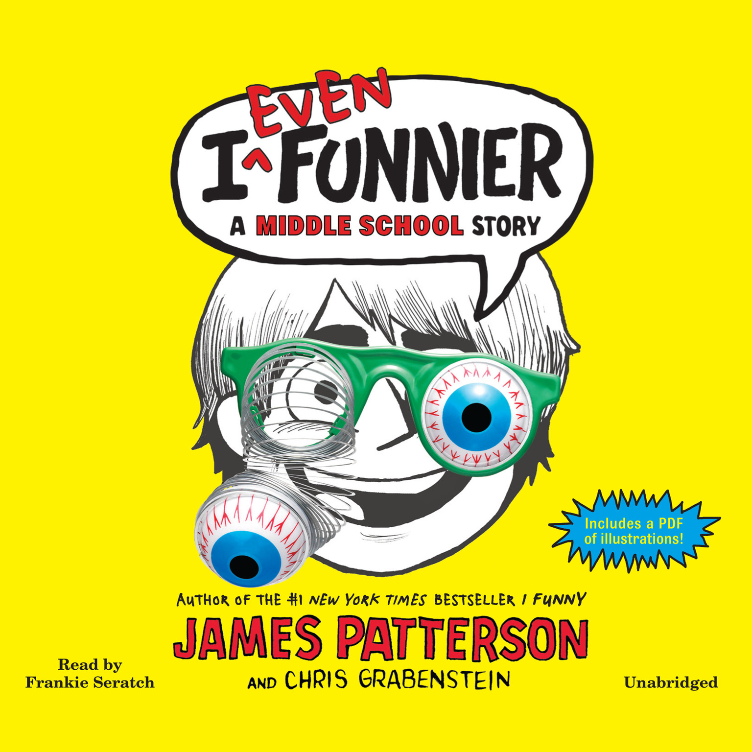 Printable I Even Funnier: A Middle School Story Audiobook Cover Art
