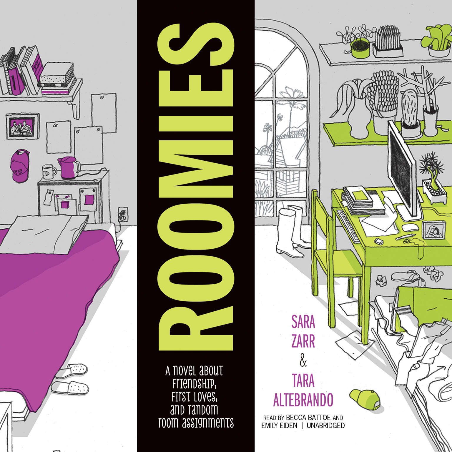 Printable Roomies Audiobook Cover Art