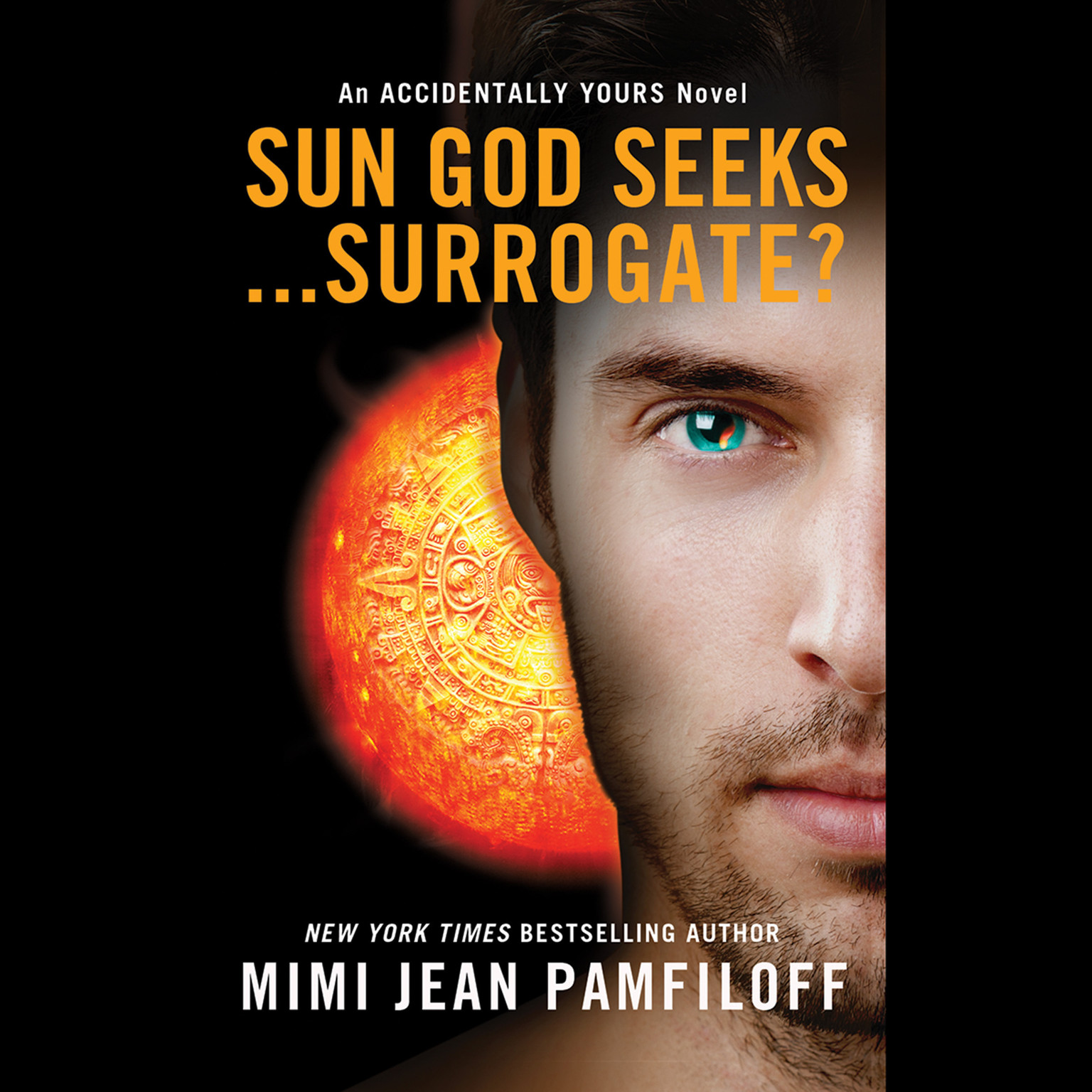 Printable Sun God Seeks … Surrogate? Audiobook Cover Art