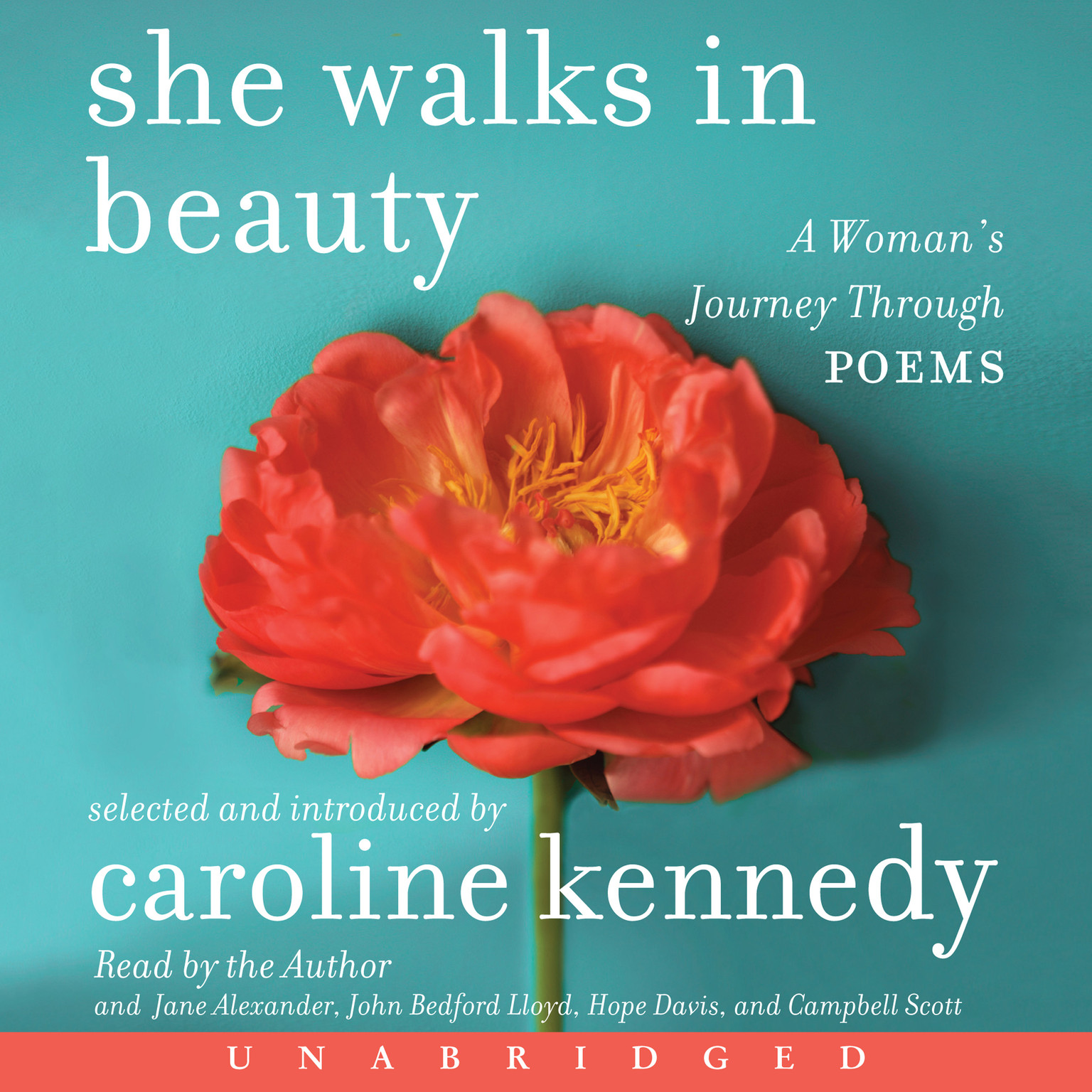 Printable She Walks in Beauty: A Woman's Journey Through Poems Audiobook Cover Art