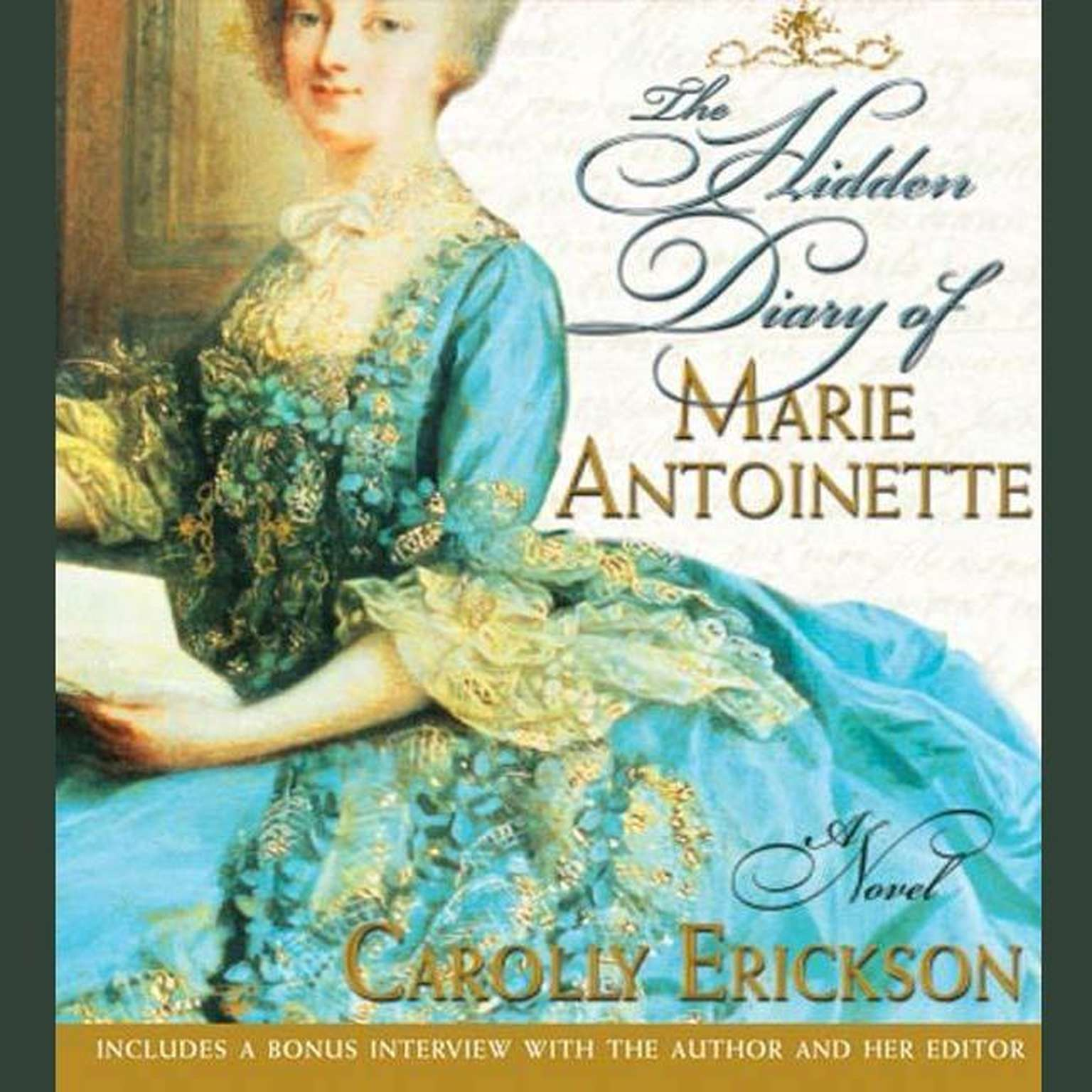 Printable The Hidden Diary of Marie Antoinette: A Novel Audiobook Cover Art