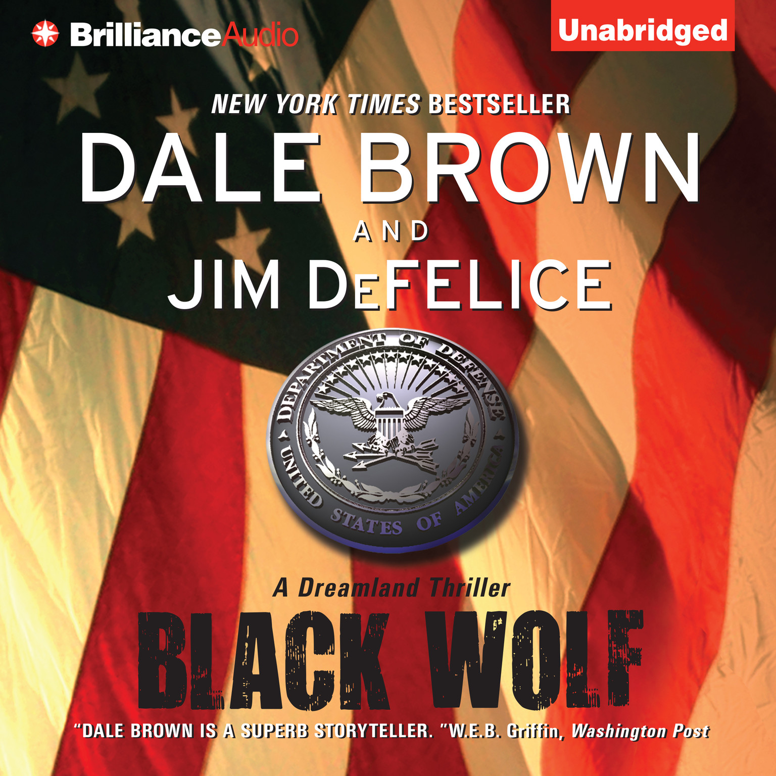 Printable Black Wolf Audiobook Cover Art