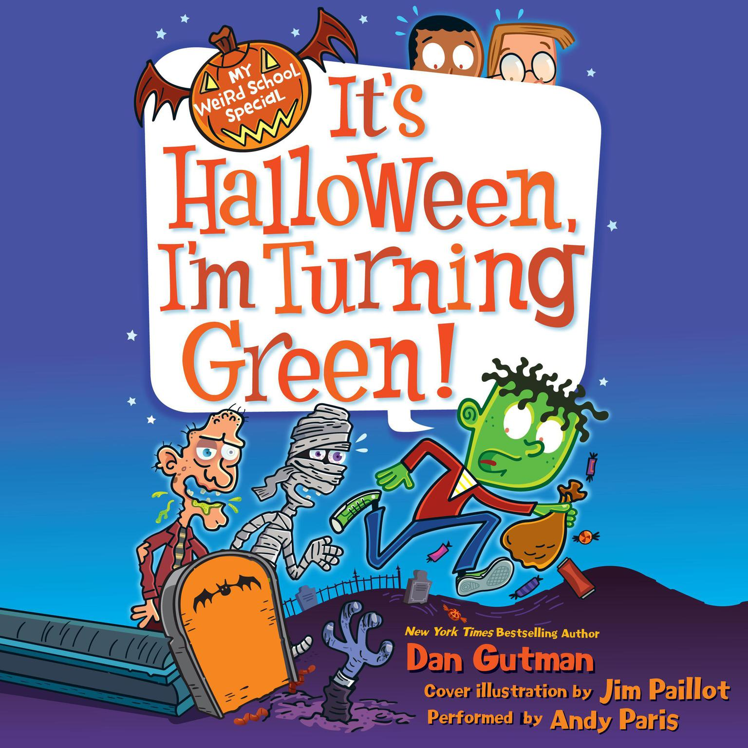Printable My Weird School Special: It's Halloween, I'm Turning Green! Audiobook Cover Art