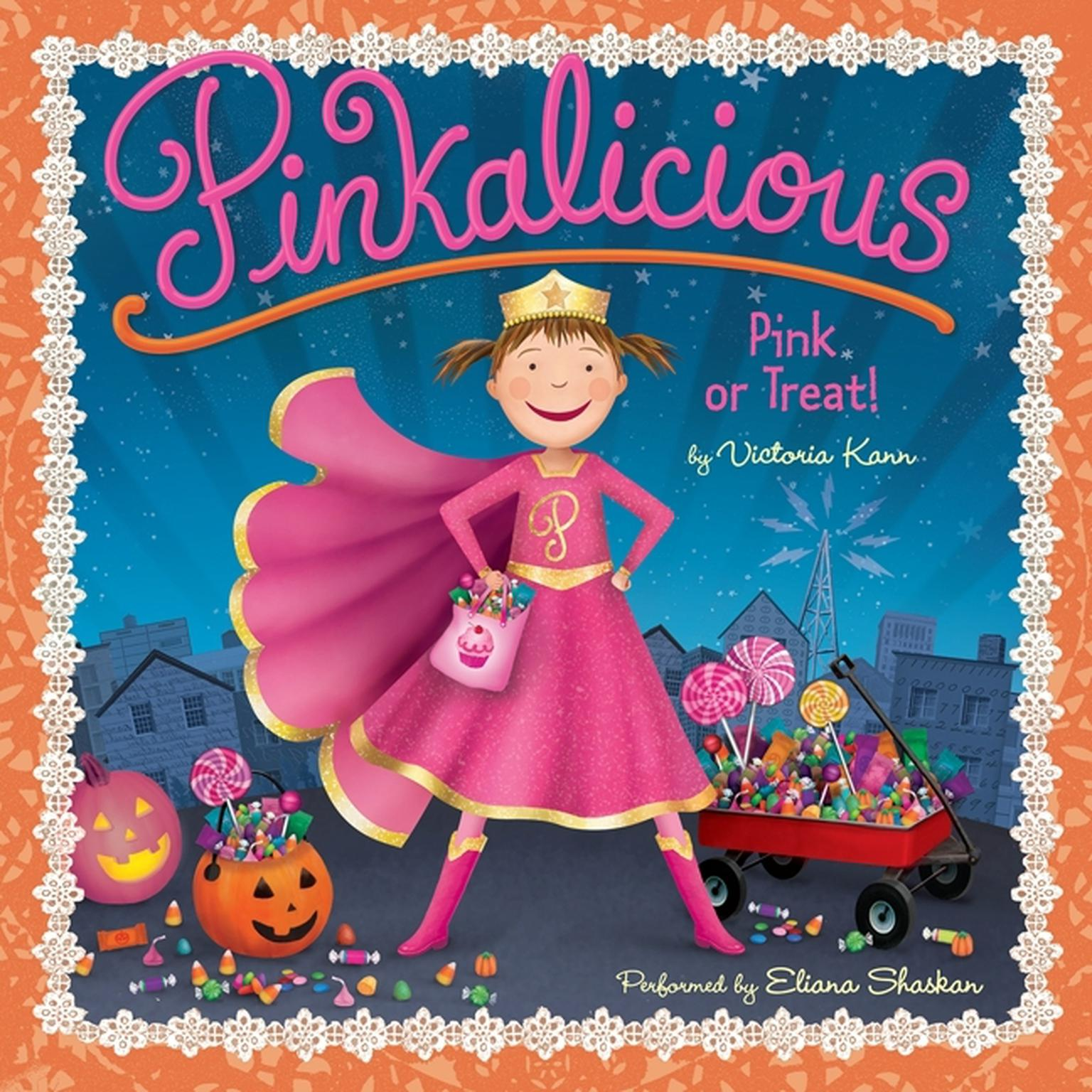Printable Pinkalicious: Pink or Treat! Audiobook Cover Art