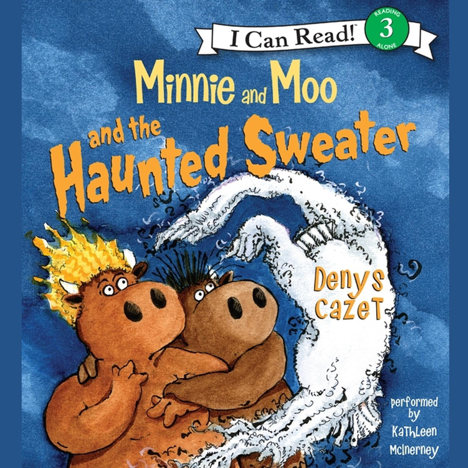 Printable Minnie and Moo and the Haunted Sweater Audiobook Cover Art
