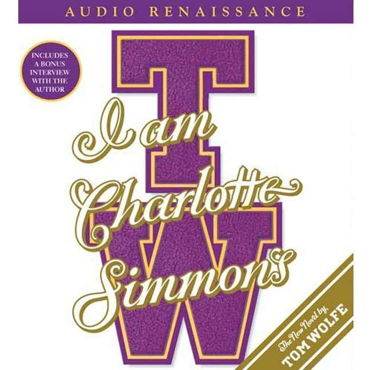 Printable I Am Charlotte Simmons: A Novel Audiobook Cover Art