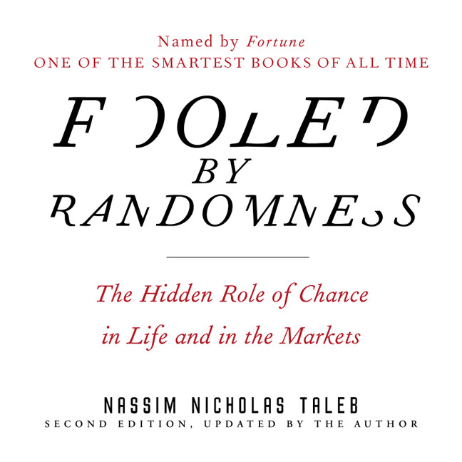 Printable Fooled by Randomness: The Hidden Role of Chance in Life and in the Markets Audiobook Cover Art
