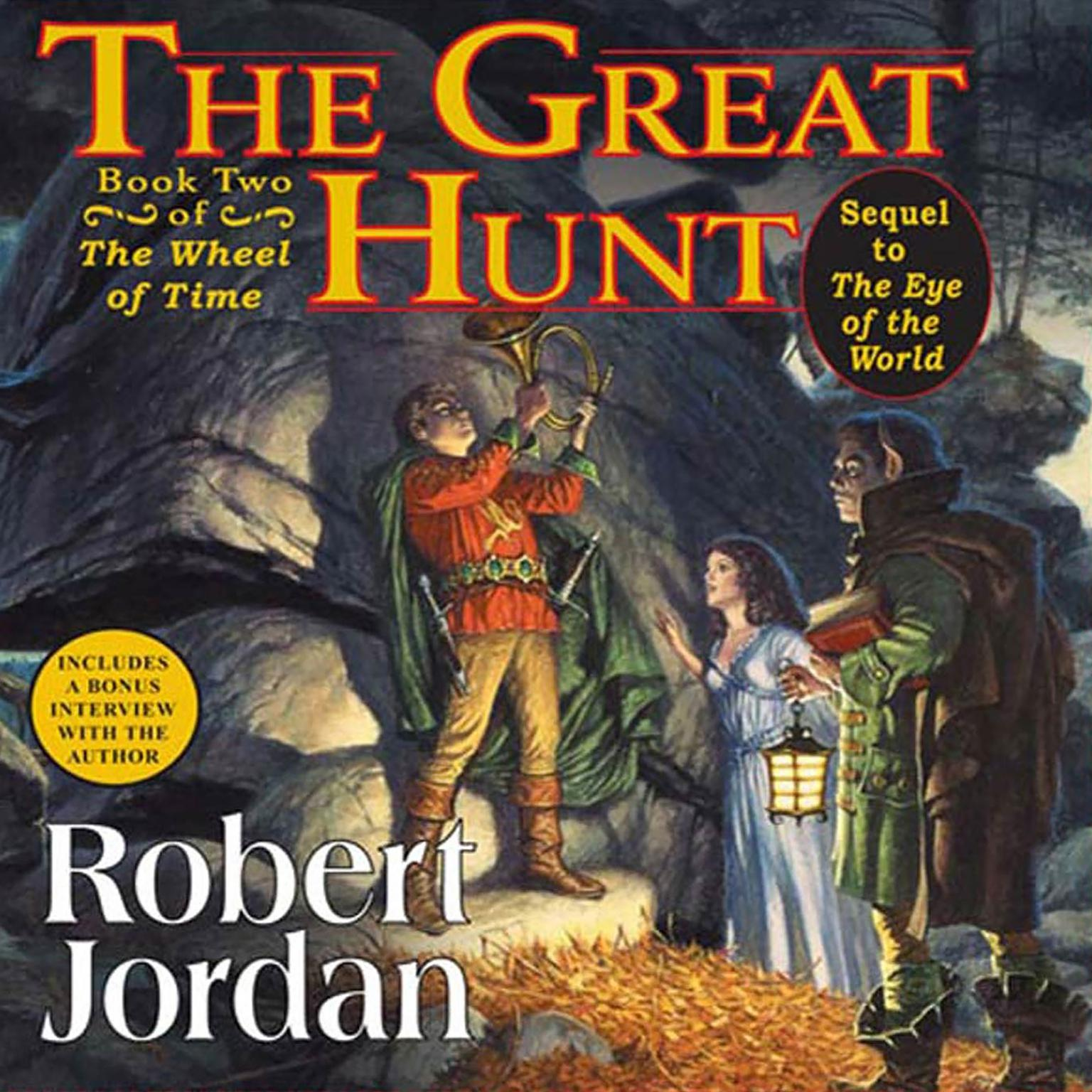 Printable The Great Hunt: Book Two of 'The Wheel of Time' Audiobook Cover Art