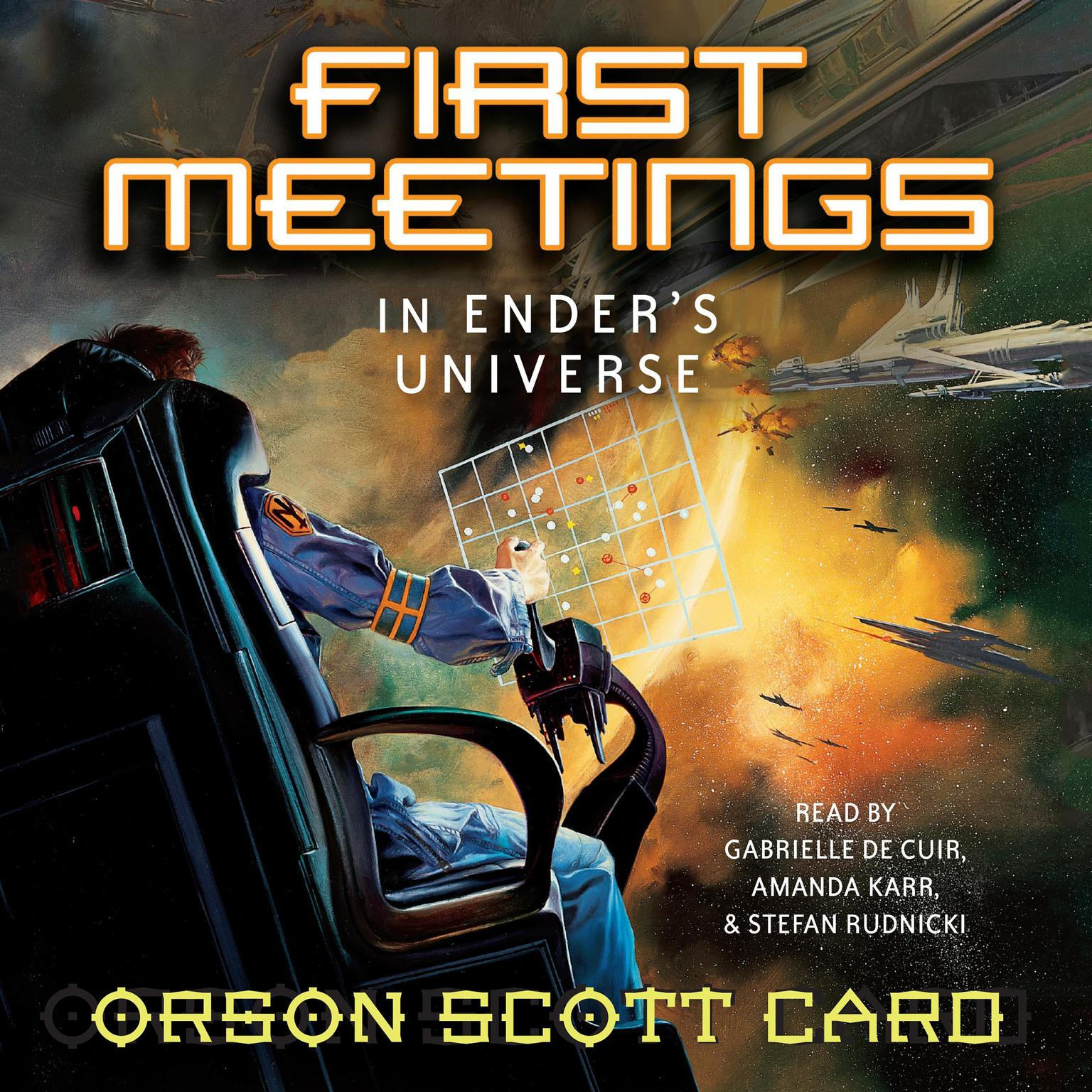 Printable First Meetings: In Ender's Universe Audiobook Cover Art