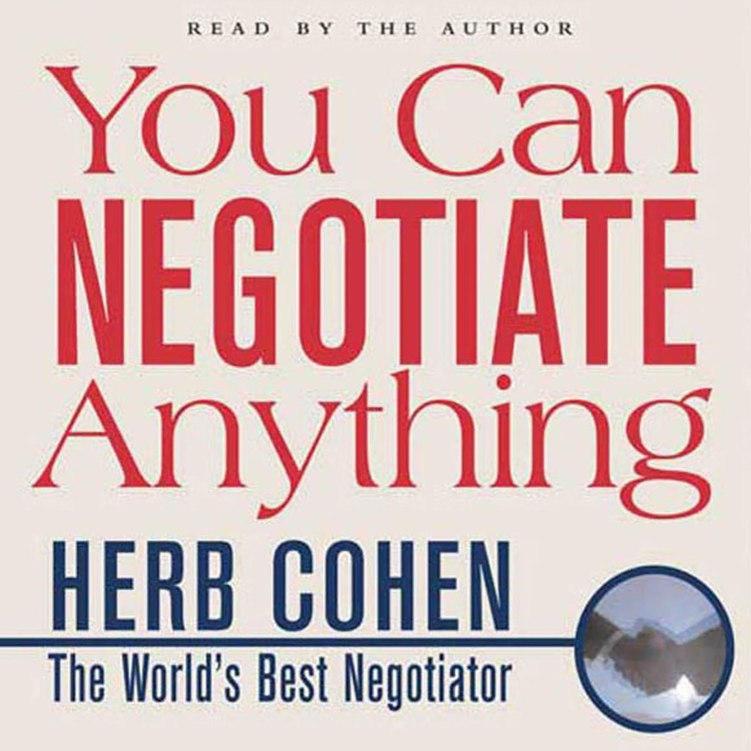 Printable You Can Negotiate Anything Audiobook Cover Art