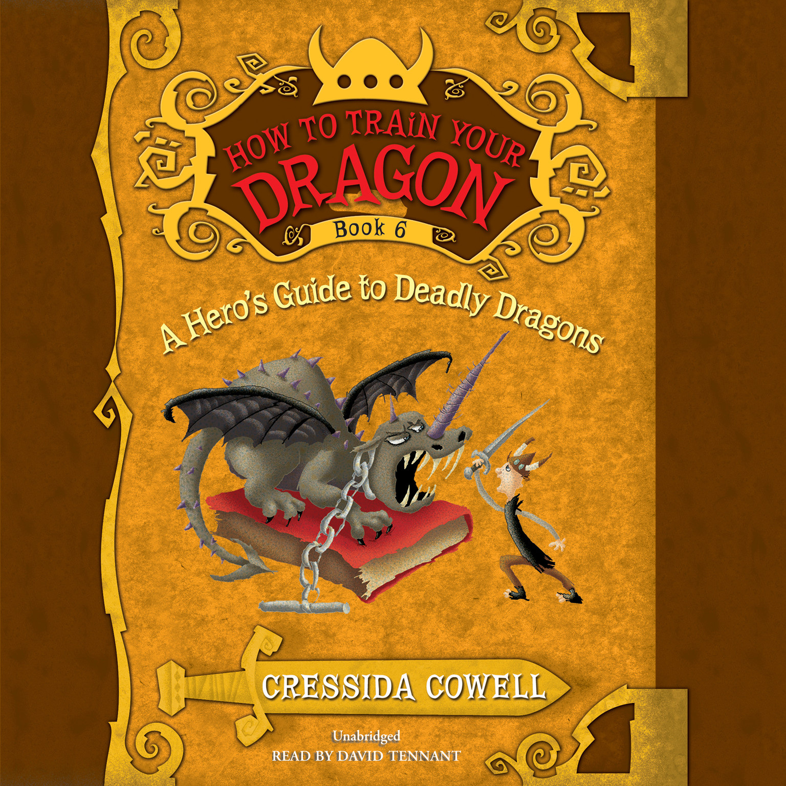 Printable A Hero's Guide to Deadly Dragons Audiobook Cover Art