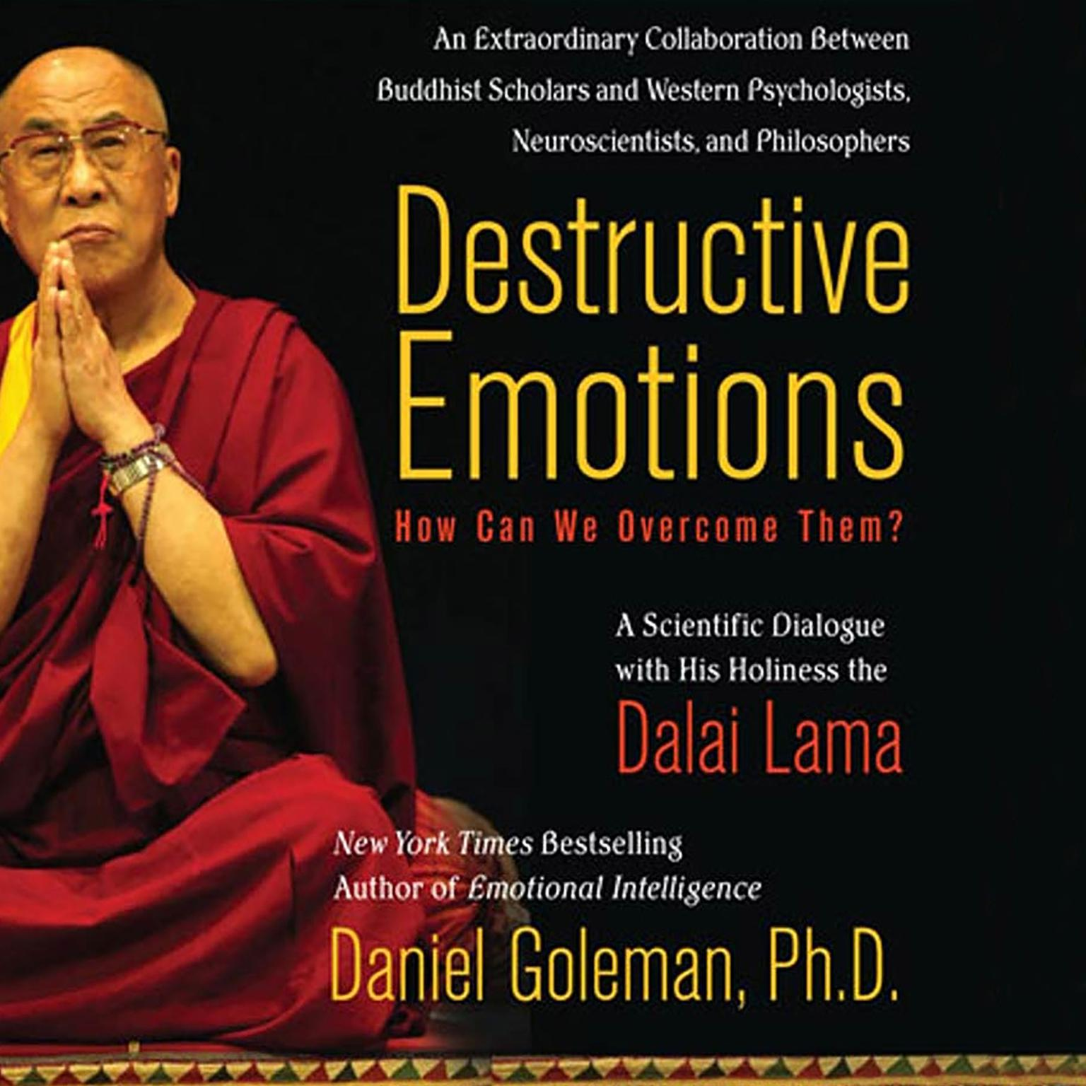 Printable Destructive Emotions: How Can We Overcome Them?: A Scientific Dialogue with the Dalai Lama Audiobook Cover Art