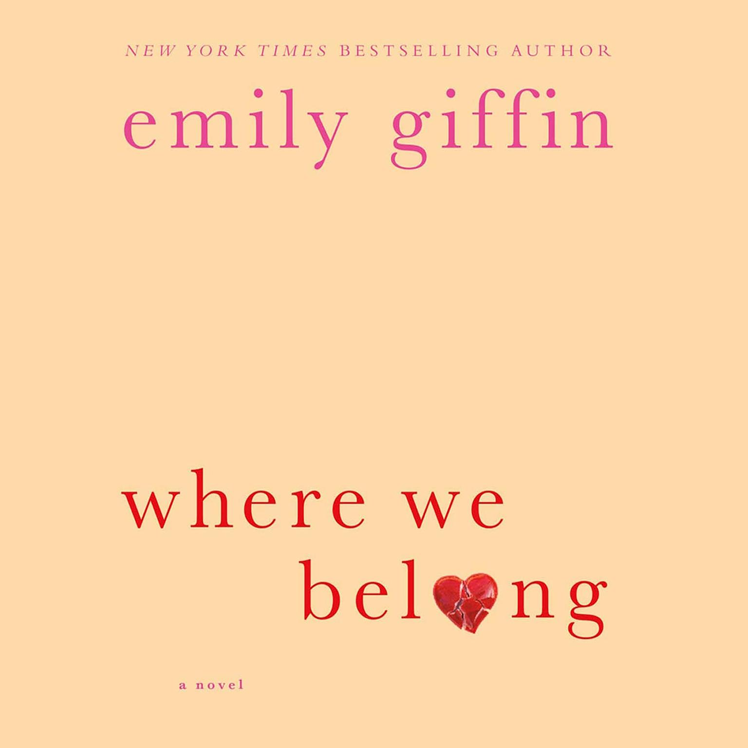 Printable Where We Belong: A Novel Audiobook Cover Art