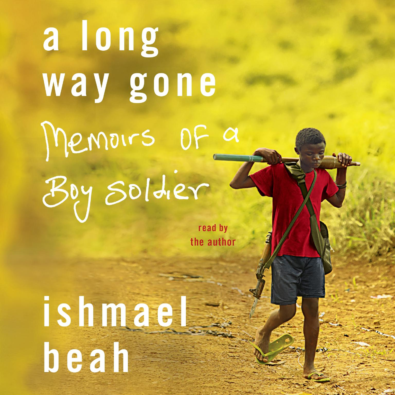 Printable A Long Way Gone: Memoirs of a Boy Soldier Audiobook Cover Art