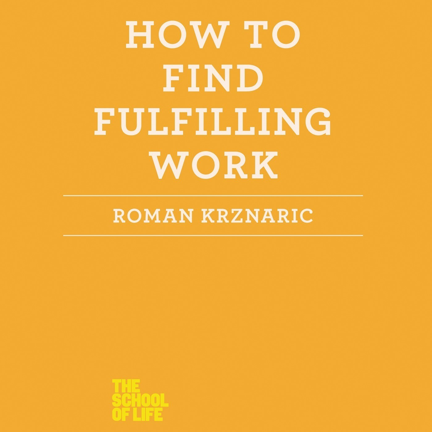 Printable How to Find Fulfilling Work Audiobook Cover Art