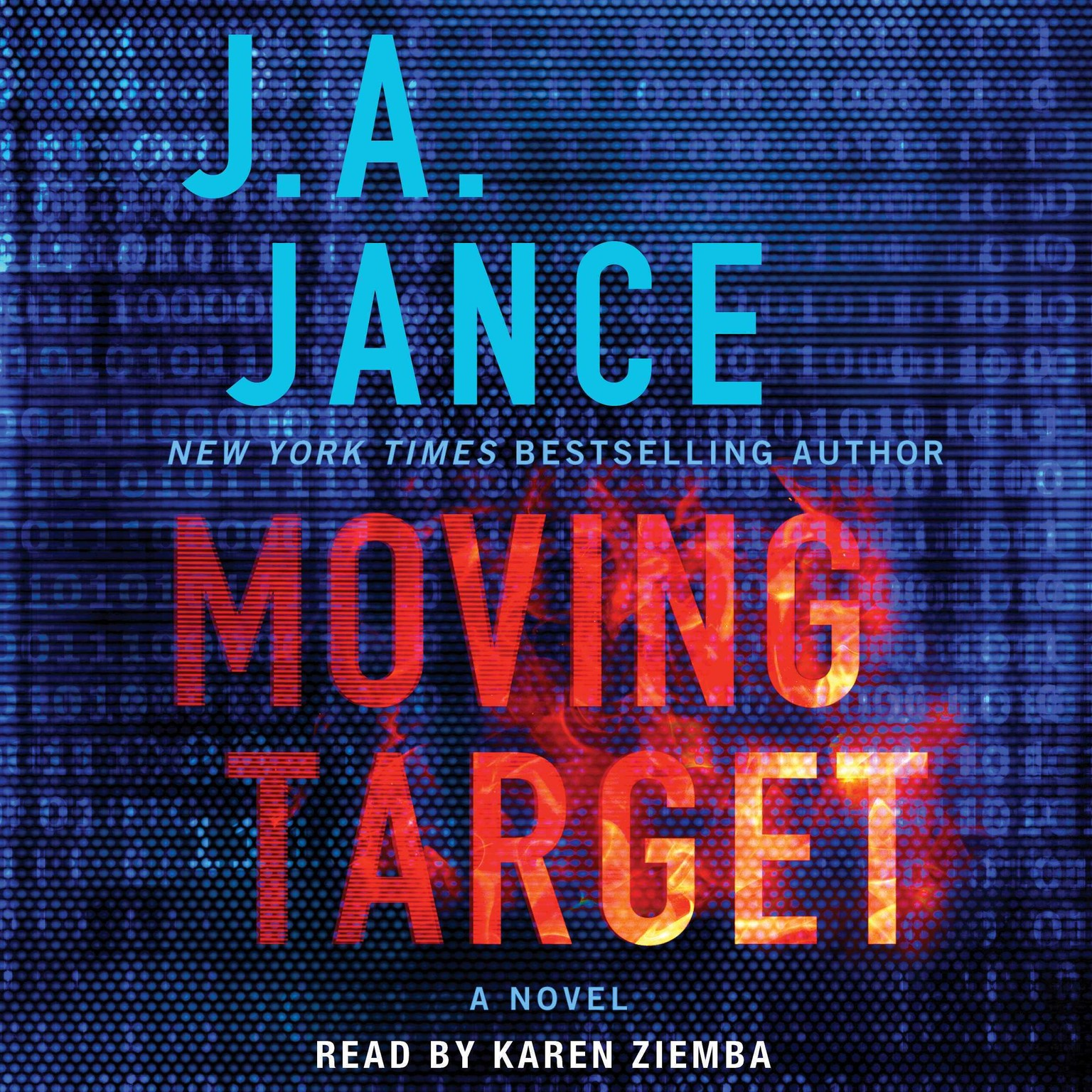 Printable Moving Target: A Novel Audiobook Cover Art