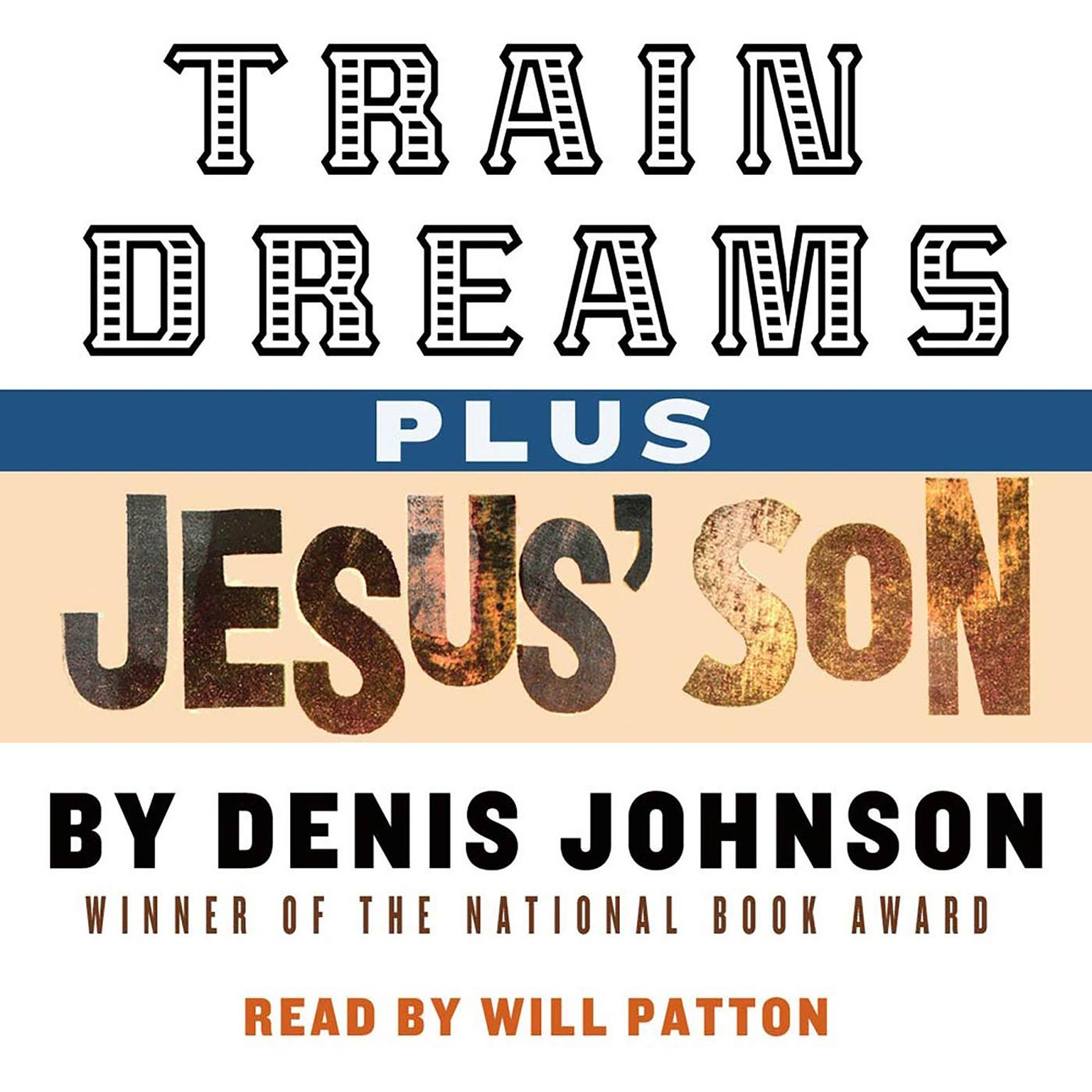Printable Train Dreams and Jesus' Son Audiobook Cover Art