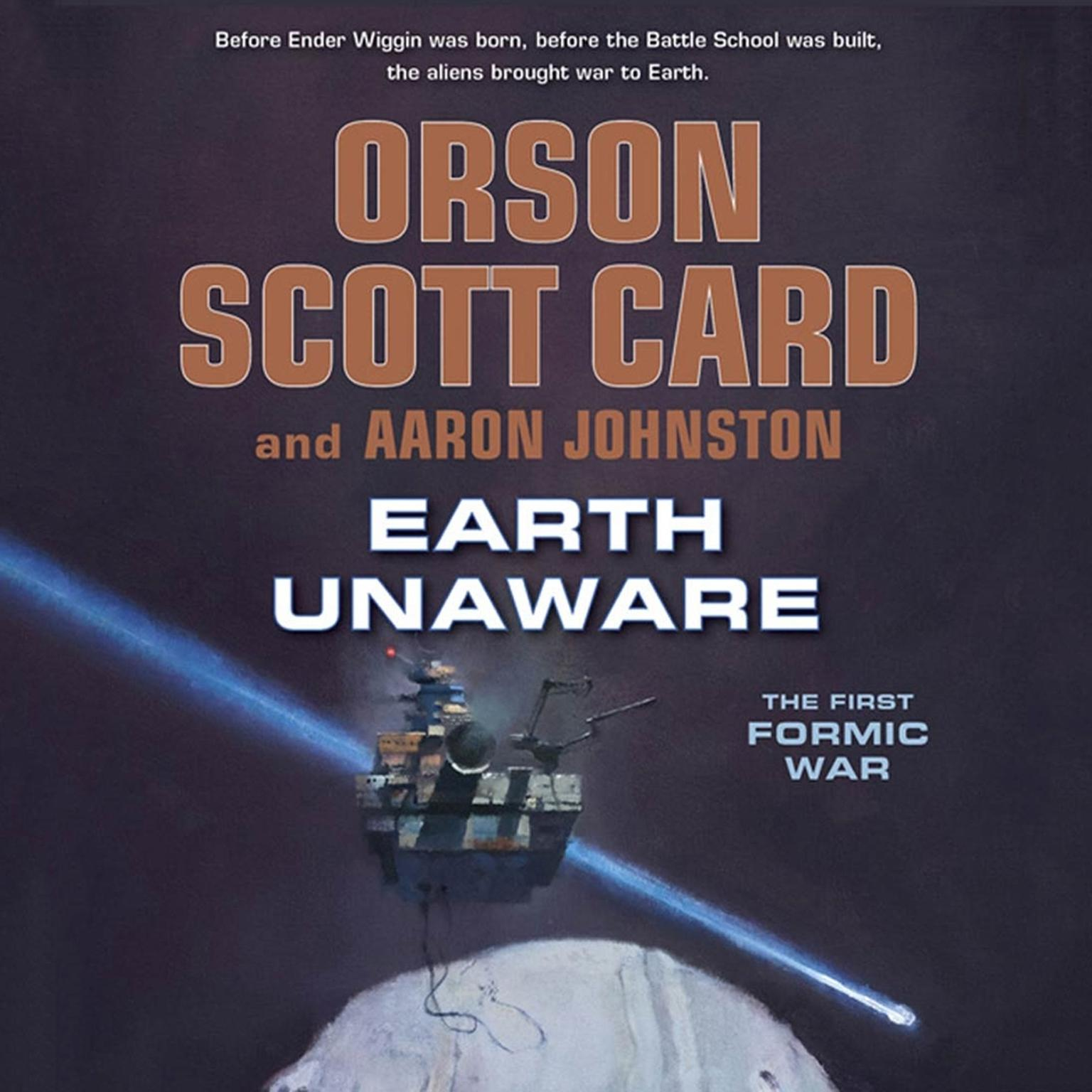Printable Earth Unaware Audiobook Cover Art