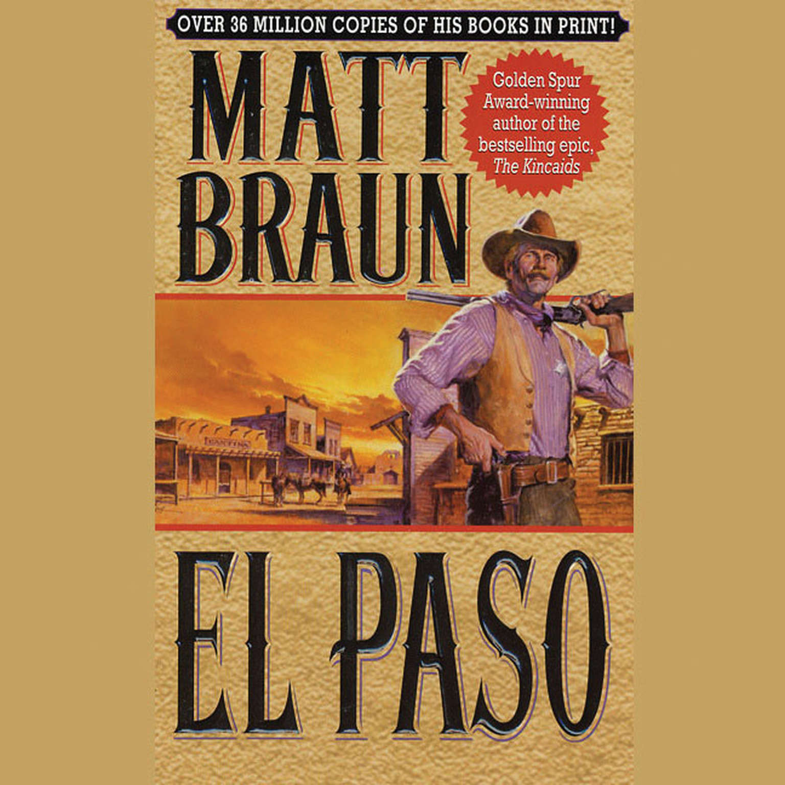 Printable El Paso Audiobook Cover Art