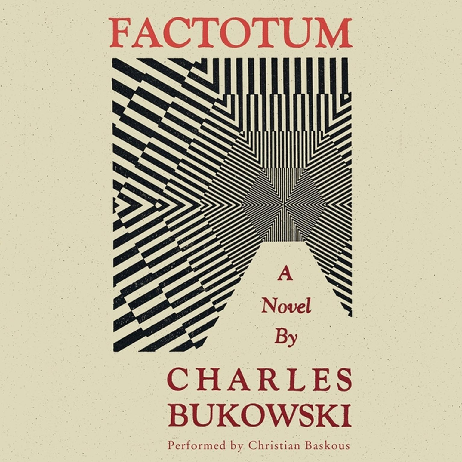 Printable Factotum Audiobook Cover Art