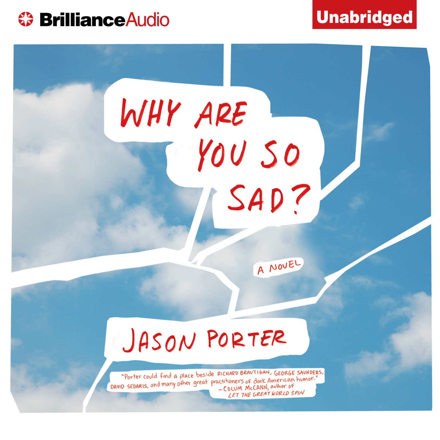 Printable Why Are You So Sad?: A Novel Audiobook Cover Art
