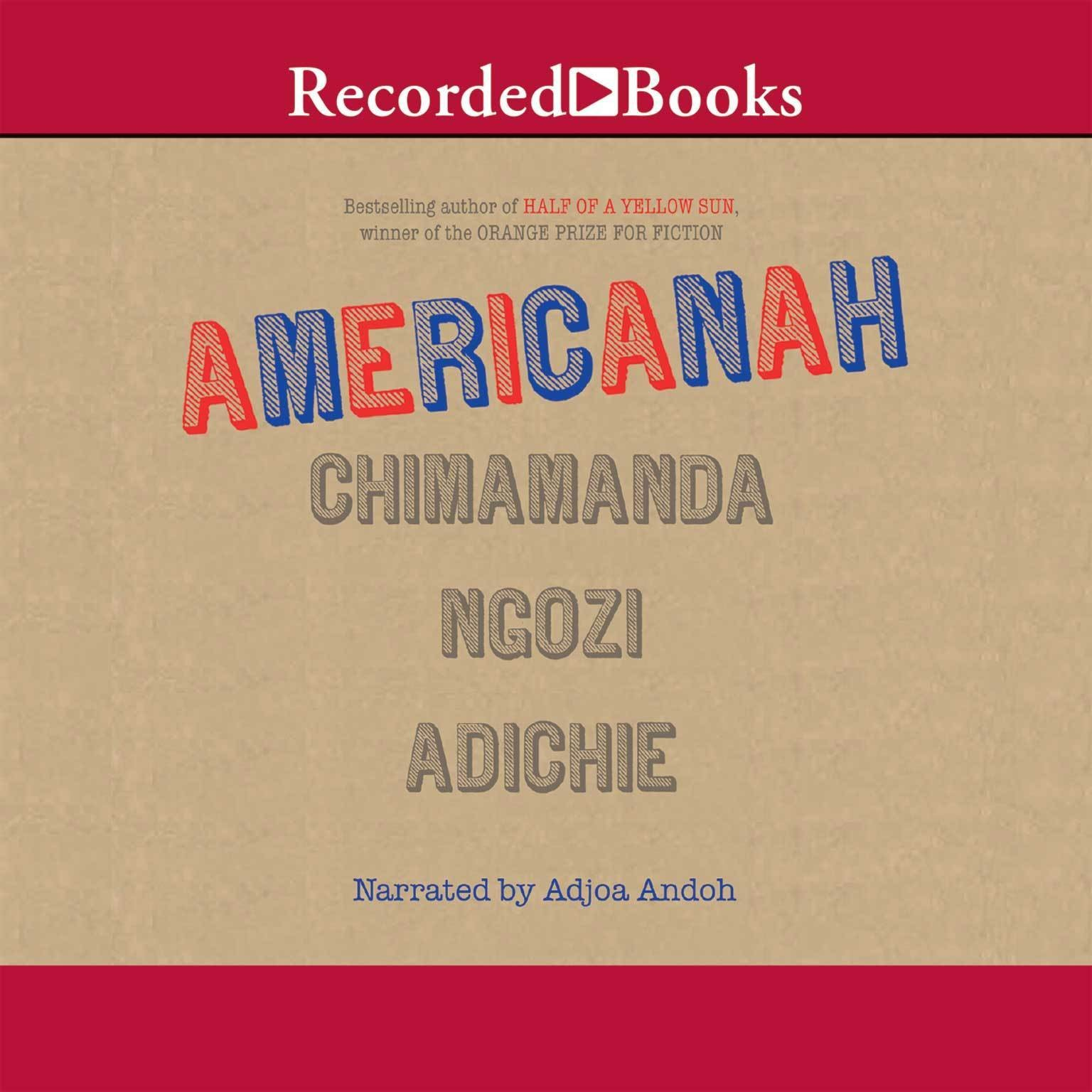 Printable Americanah Audiobook Cover Art