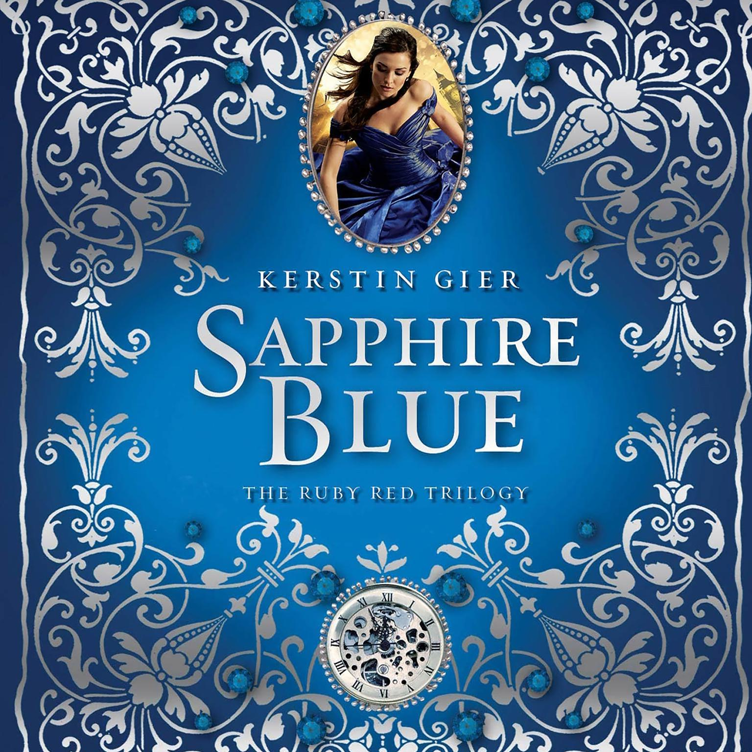 Printable Sapphire Blue Audiobook Cover Art