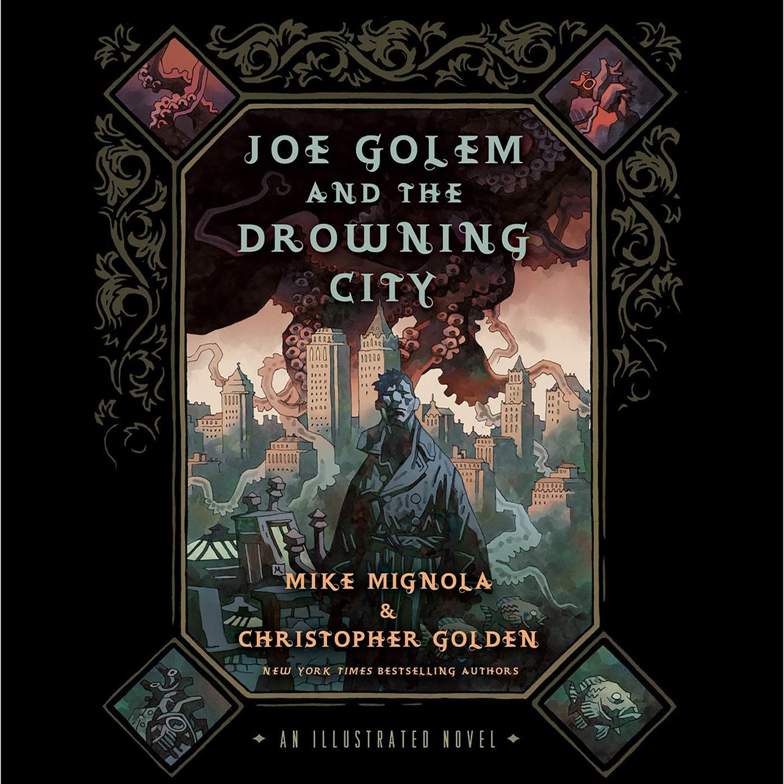 Printable Joe Golem and the Drowning City: An Illustrated Novel Audiobook Cover Art