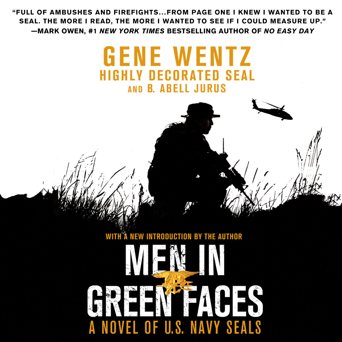 Printable Men in Green Faces: A Novel of U.S. Navy SEALs Audiobook Cover Art