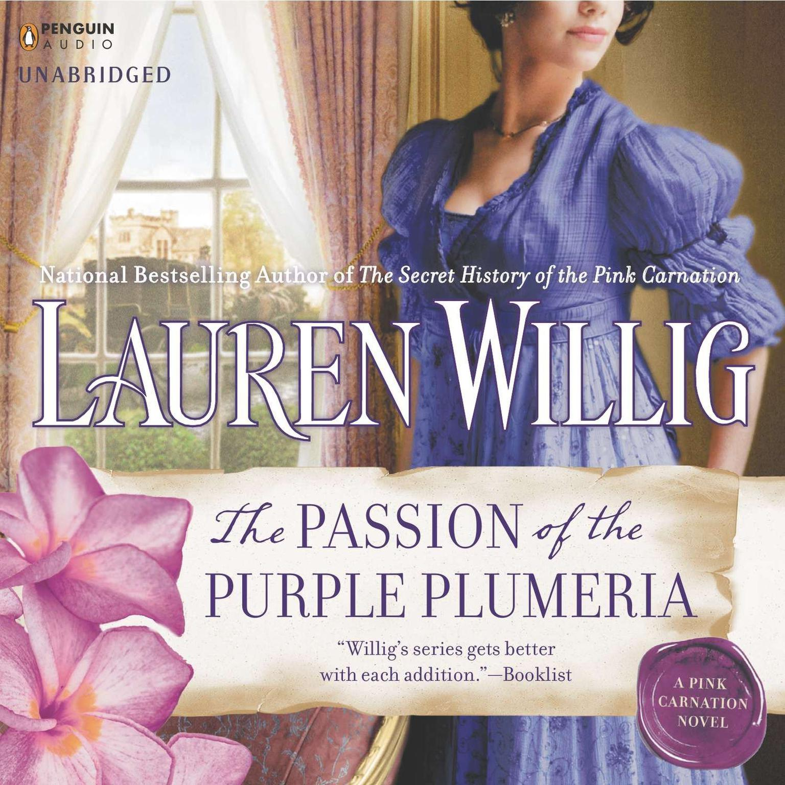 Printable The Passion of the Purple Plumeria Audiobook Cover Art