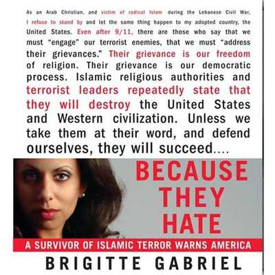 Because They Hate: A Survivor of Islamic Terror Warns America Audiobook, by Brigitte Gabriel