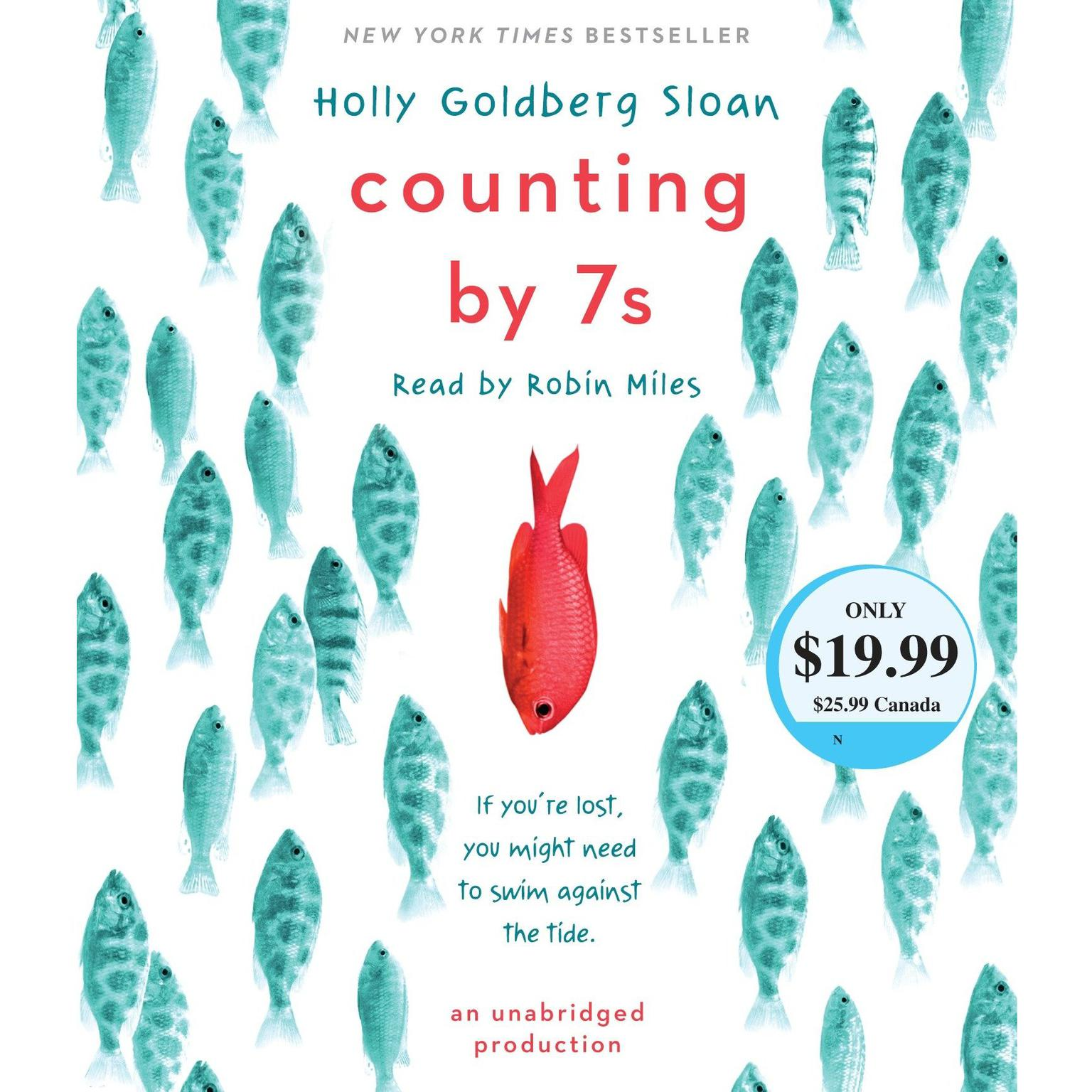 Printable Counting by 7s Audiobook Cover Art