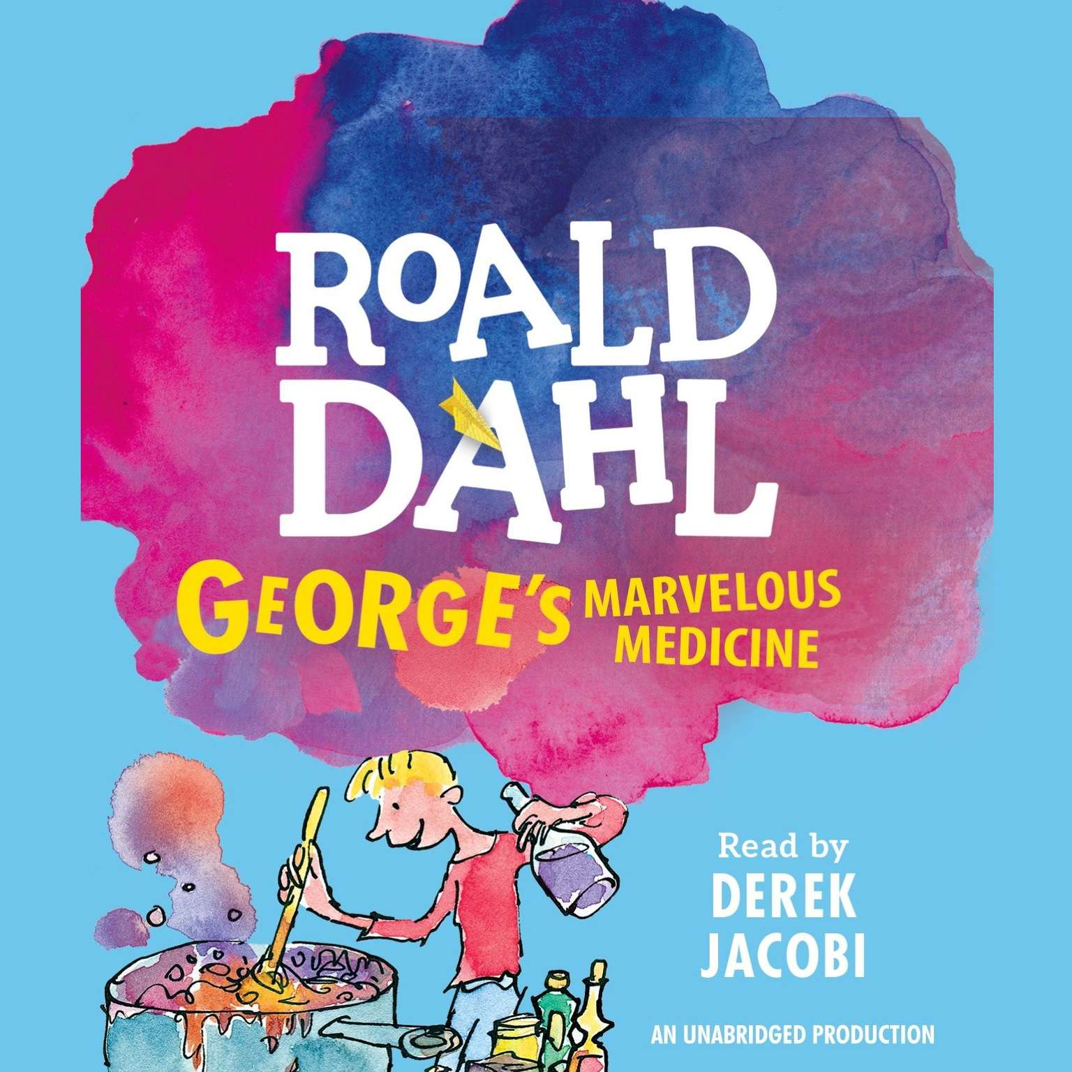 Printable George's Marvelous Medicine Audiobook Cover Art