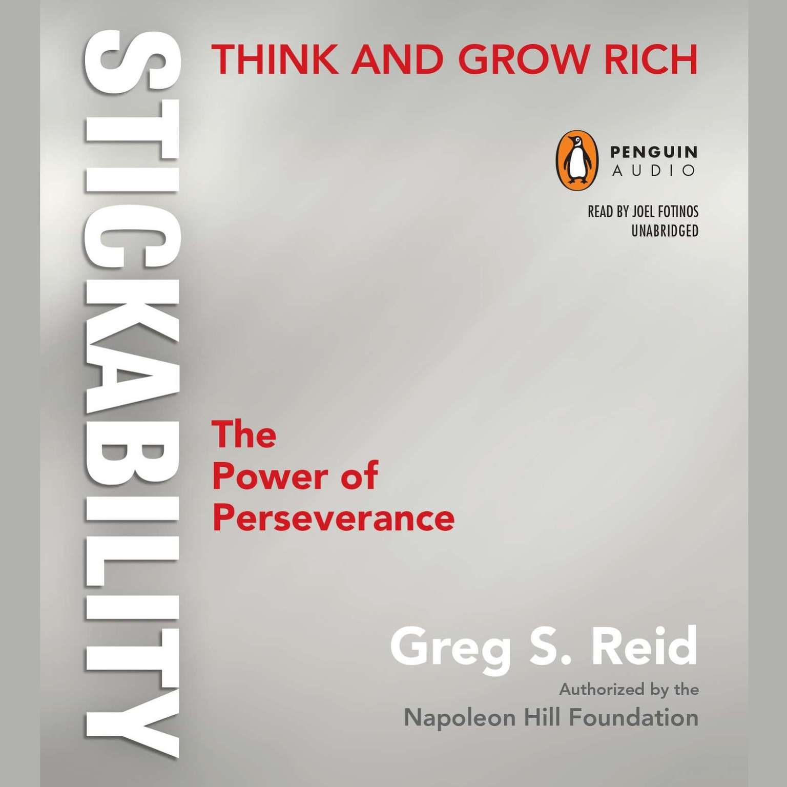 Printable Think and Grow Rich 'Stickability': The Power of Perseverance Audiobook Cover Art